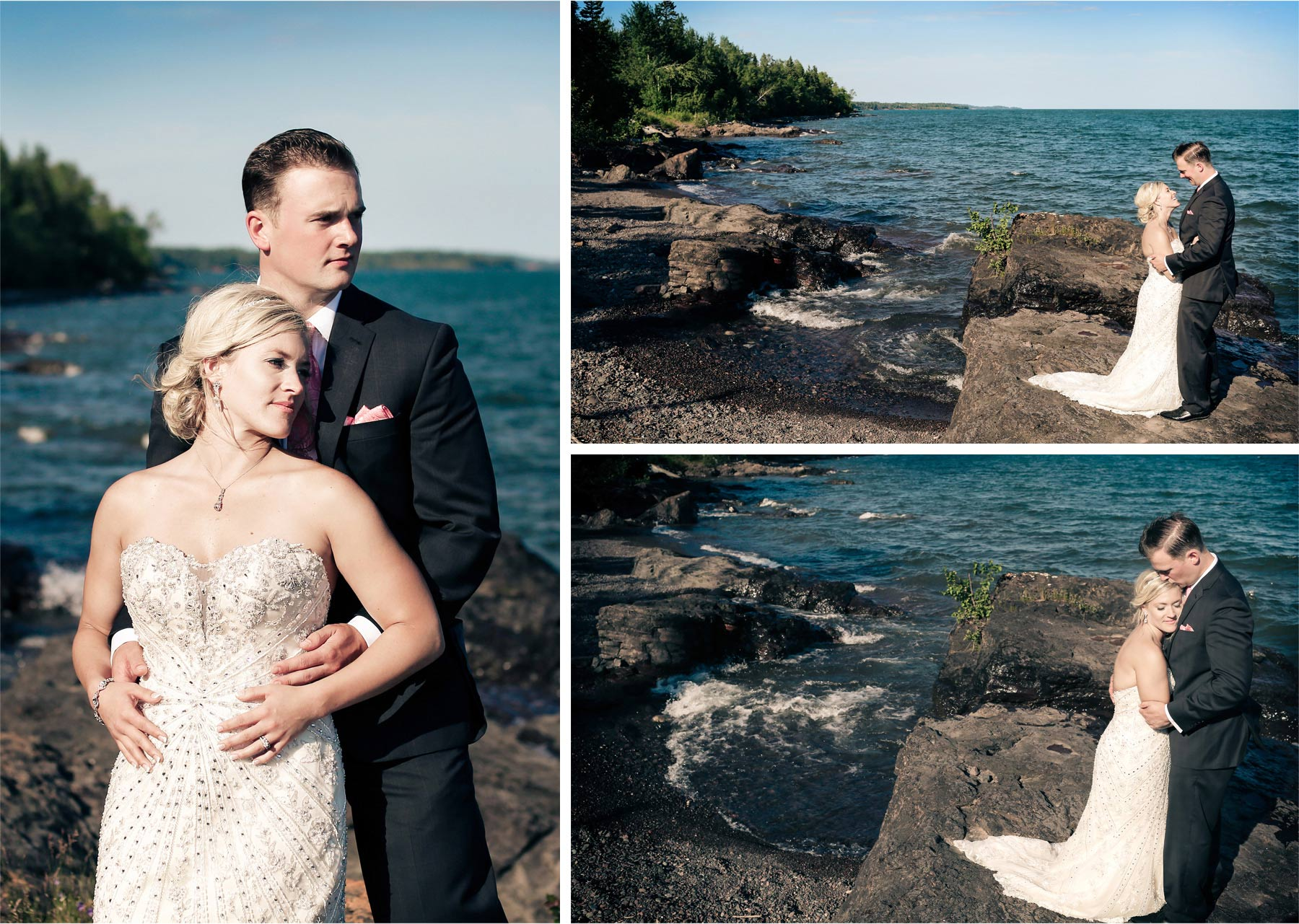 17-Duluth-Minnesota-Wedding-Photographer-by-Andrew-Vick-Photography-Summer-Groom-Bride-Lake-Superior-Embrace-Laughter-Vintage-Lindsey-and-Adam.jpg