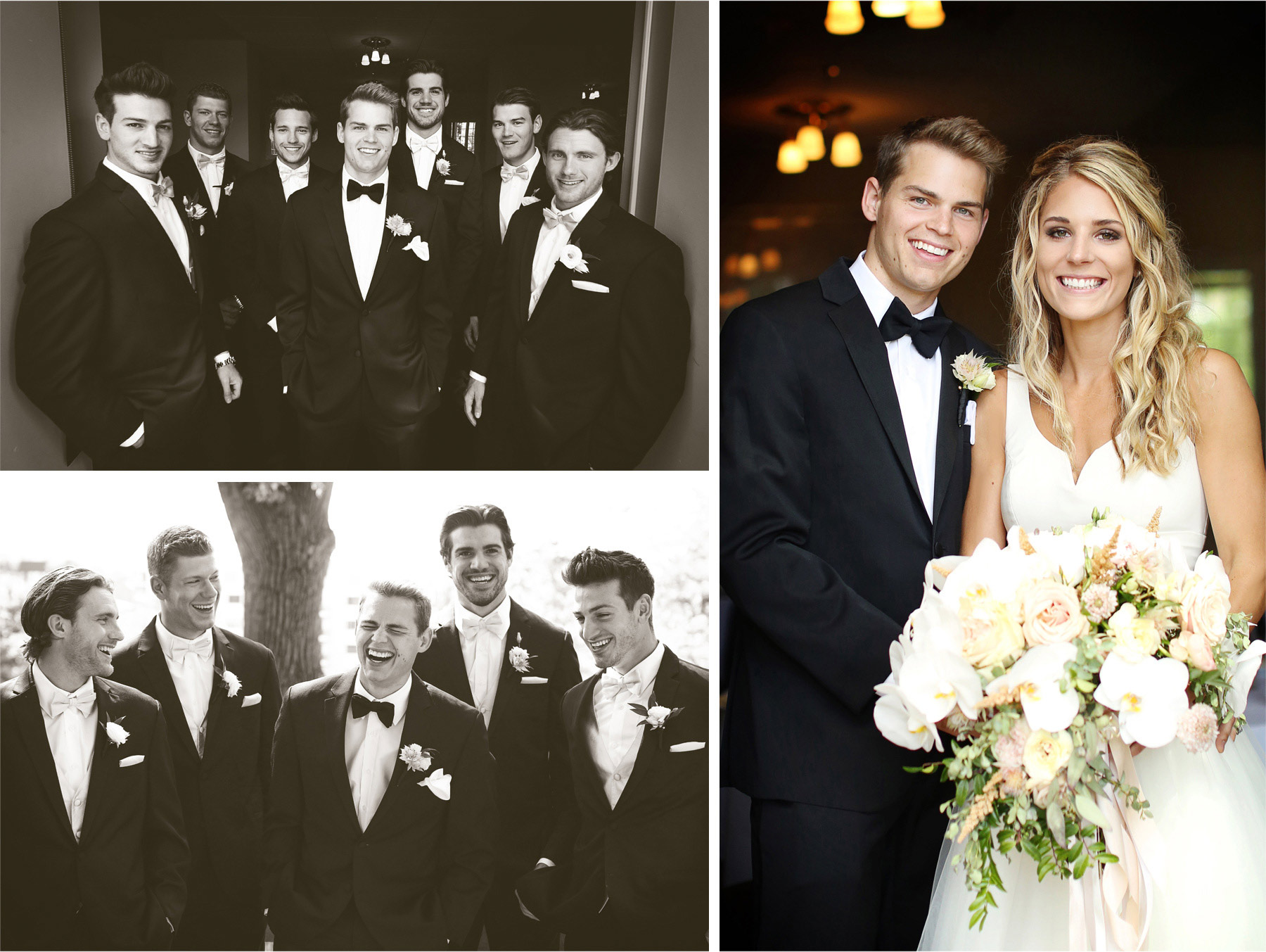 07-Minneapolis-Minnesota-Wedding-Photographer-by-Andrew-Vick-Photography-Summer-Calhoun-Beach-Club-Bride-Groom-Groomsmen-Black-and-White-Laughter-Flowers-Lexie-and-James.jpg