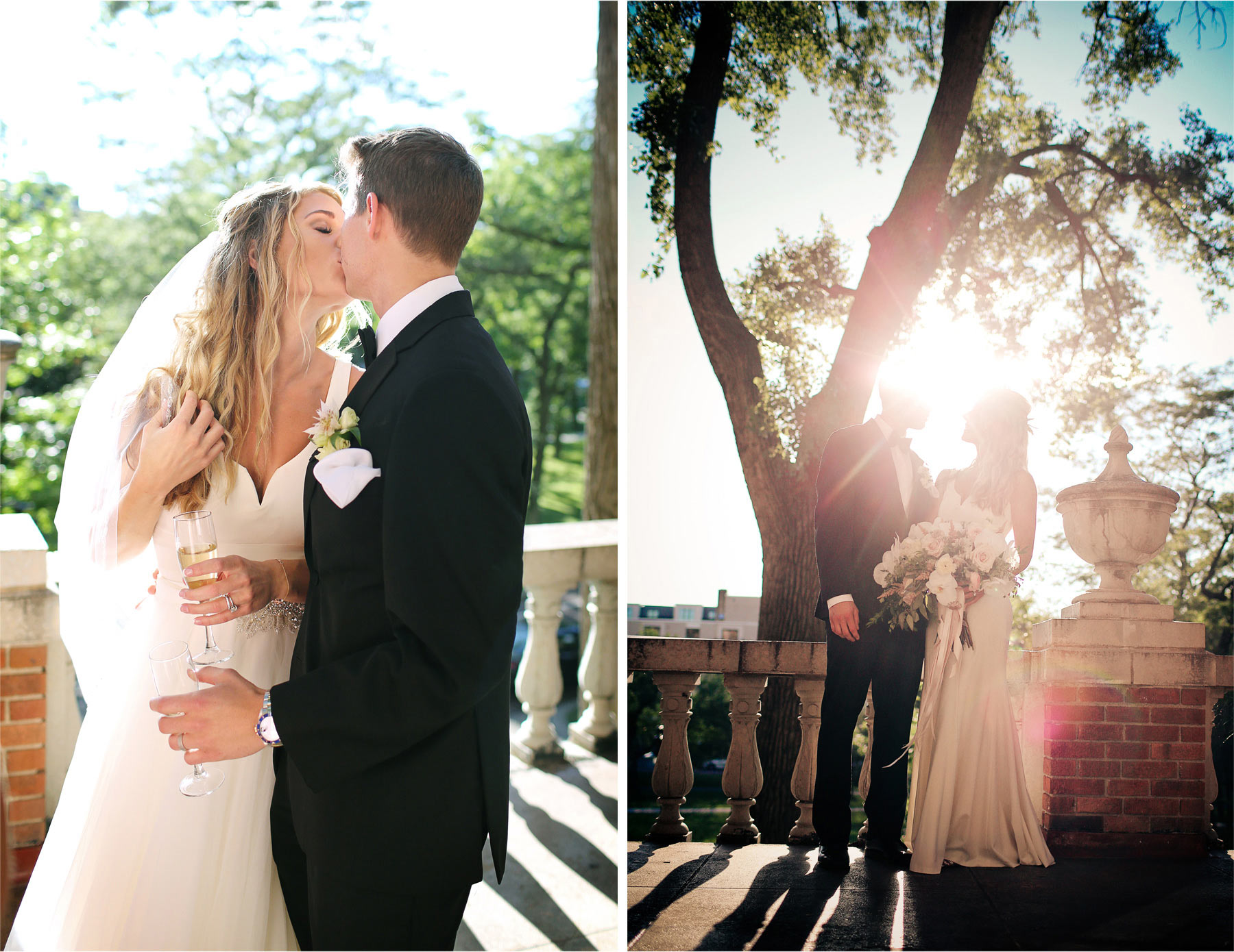 16-Minneapolis-Minnesota-Wedding-Photographer-by-Andrew-Vick-Photography-Summer-Calhoun-Beach-Club-Bride-Groom-Kiss-Champagne-Sunburst-Lexie-and-James.jpg