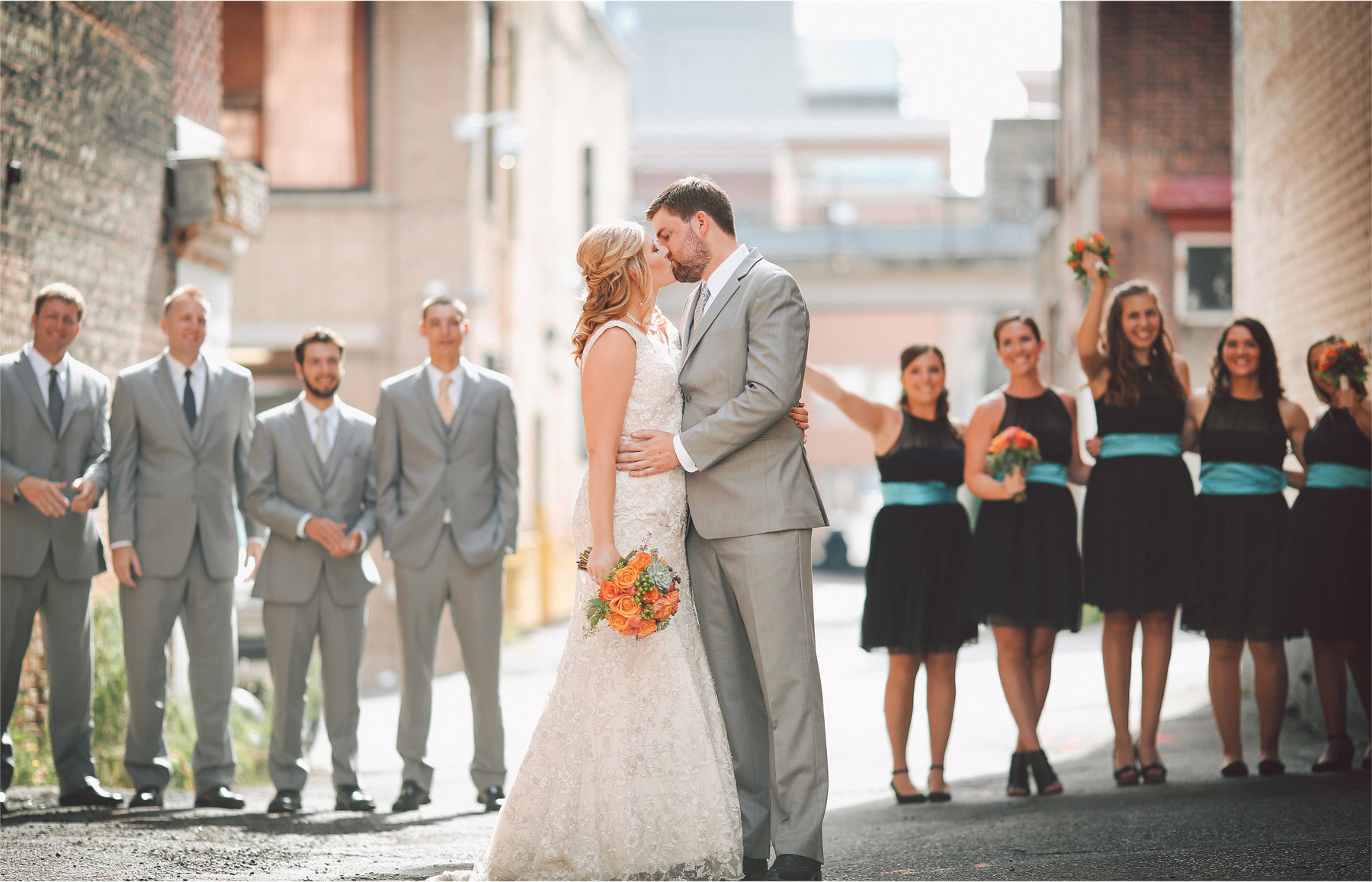 07-Duluth-Minnesota-Wedding-Photographer-by-Andrew-Vick-Photography-Summer-Bride-Groom-Bridal-Party-Bridesmaids-Groomsmen-Flowers-Kiss-Vintage-Katie-and-Andrew.jpg