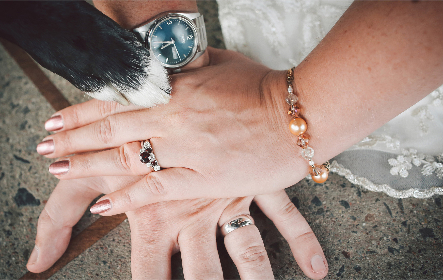 19-Duluth-Minnesota-Wedding-Photographer-by-Andrew-Vick-Photography-Summer-Bride-Groom-Dog-Hands-Rings-Vintage-Katie-and-Andrew.jpg