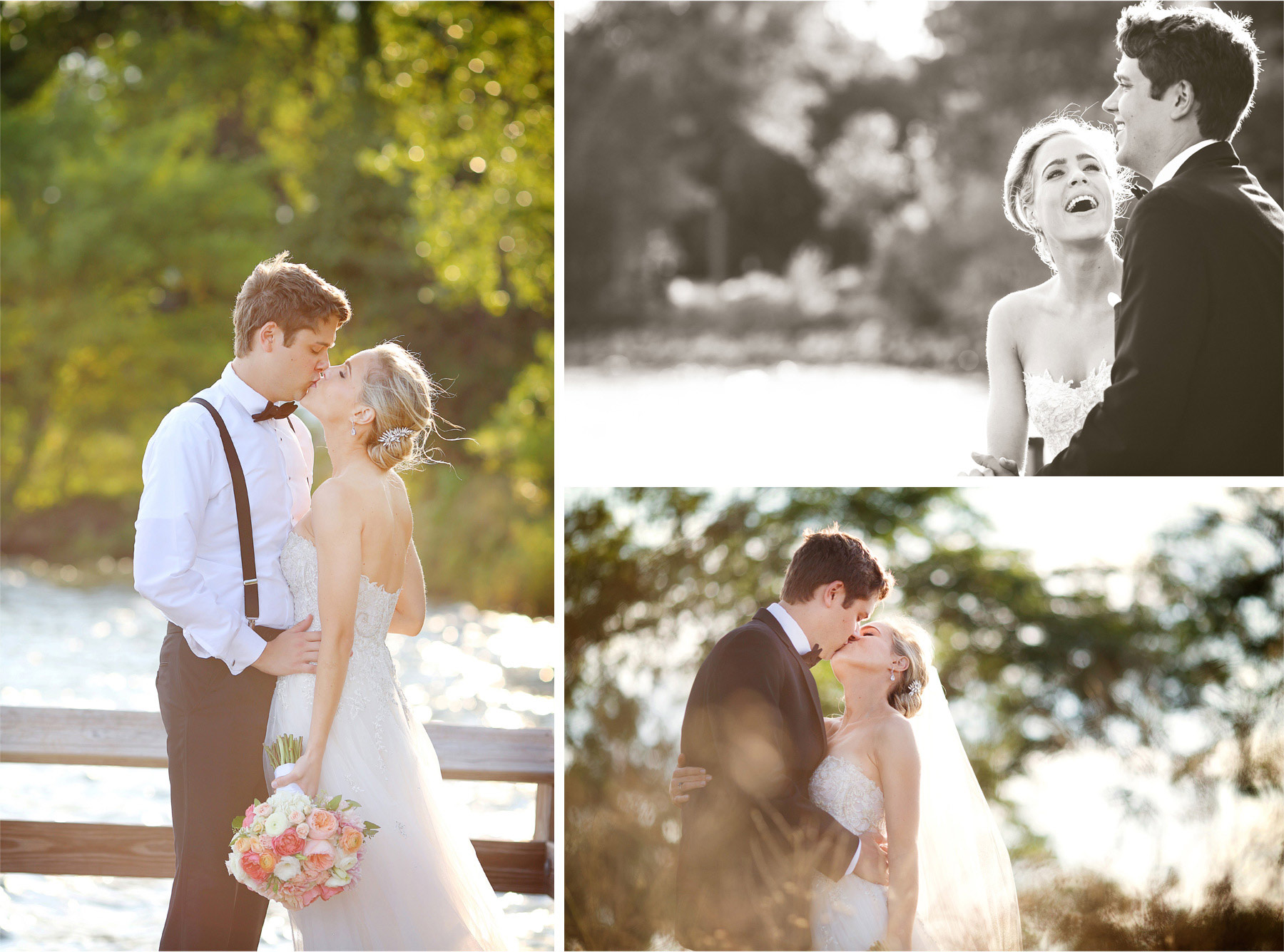 20-Minneapolis-Minnesota-Wedding-Photographer-by-Andrew-Vick-Photography-Summer-Lake-Calhoun-Bride-Groom-Kiss-Flowers-Laughter-Vintage-Black-and-White-Michelle-and-Kevin.jpg