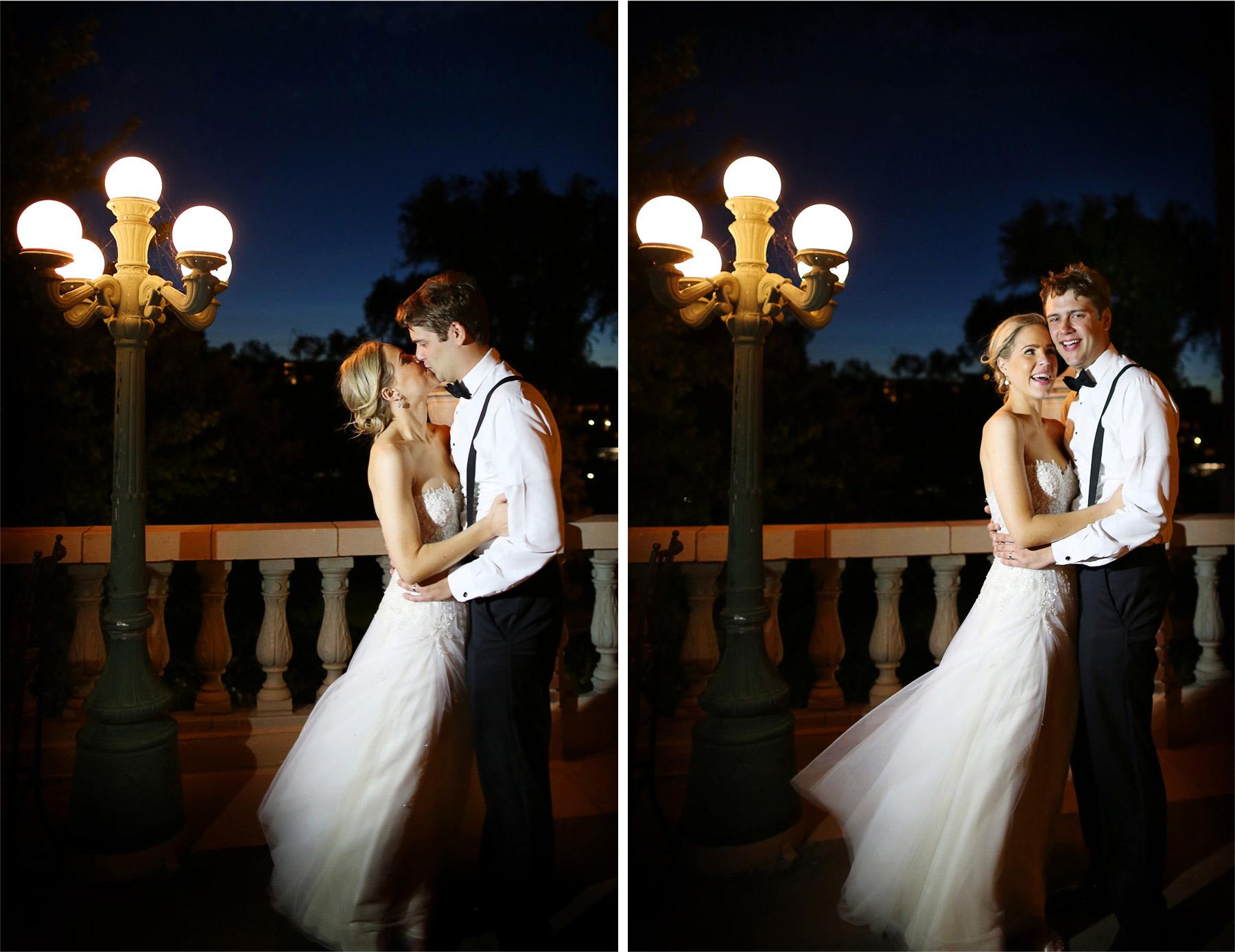 26-Minneapolis-Minnesota-Wedding-Photographer-by-Andrew-Vick-Photography-Summer--Calhoun-Beach-Club-Reception-Bride-Groom-Kiss-Embrace-Night-Terrace-Michelle-and-Kevin.jpg