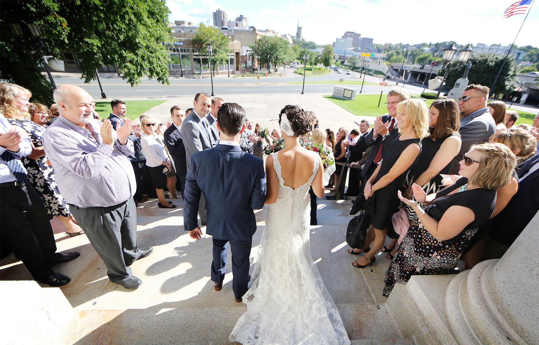 15-Minneapolis-Minnesota-Wedding-Photographer-by-Andrew-Vick-Photography-Summer-Basilica-of-Saint-Mary-Church-Recessional-Bride-Groom-Guests-Ashley-and-Eric.jpg