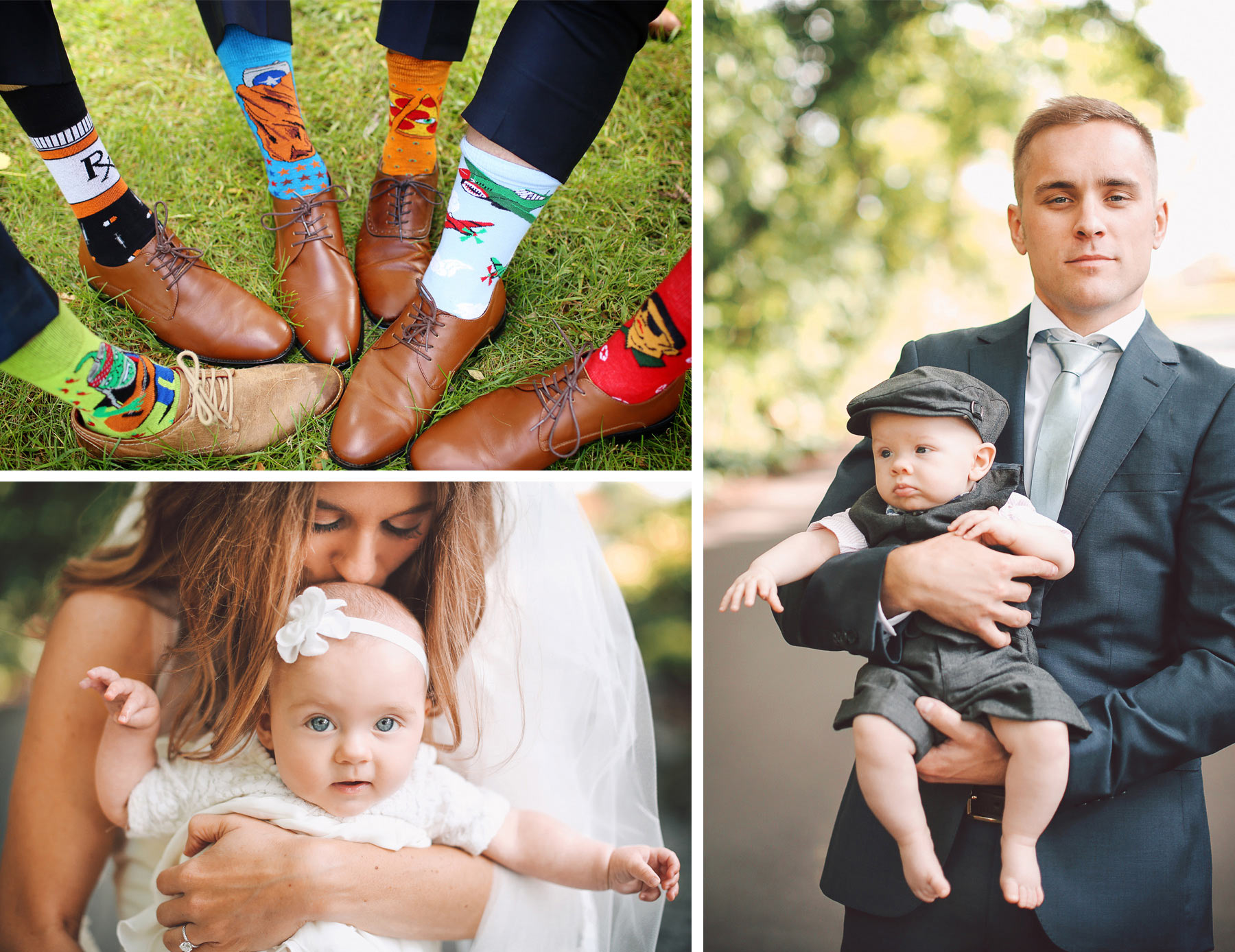 16-Dellwood-Minnesota-Wedding-Photographer-by-Andrew-Vick-Photography-Summer-Country-Club-Bride-Groom-Groomsmen-Socks-Baby-Vintage-Sarah-and-Landon.jpg
