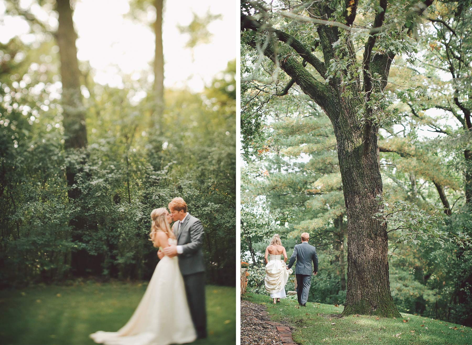 07-Minneapolis-Minnesota-Wedding-Photographer-by-Andrew-Vick-Photography-Fall-Autumn-Parents-House-First-Meeting-Look-Backyard-Bride-Groom-Kiss-Vintage-Krissy-and-James.jpg