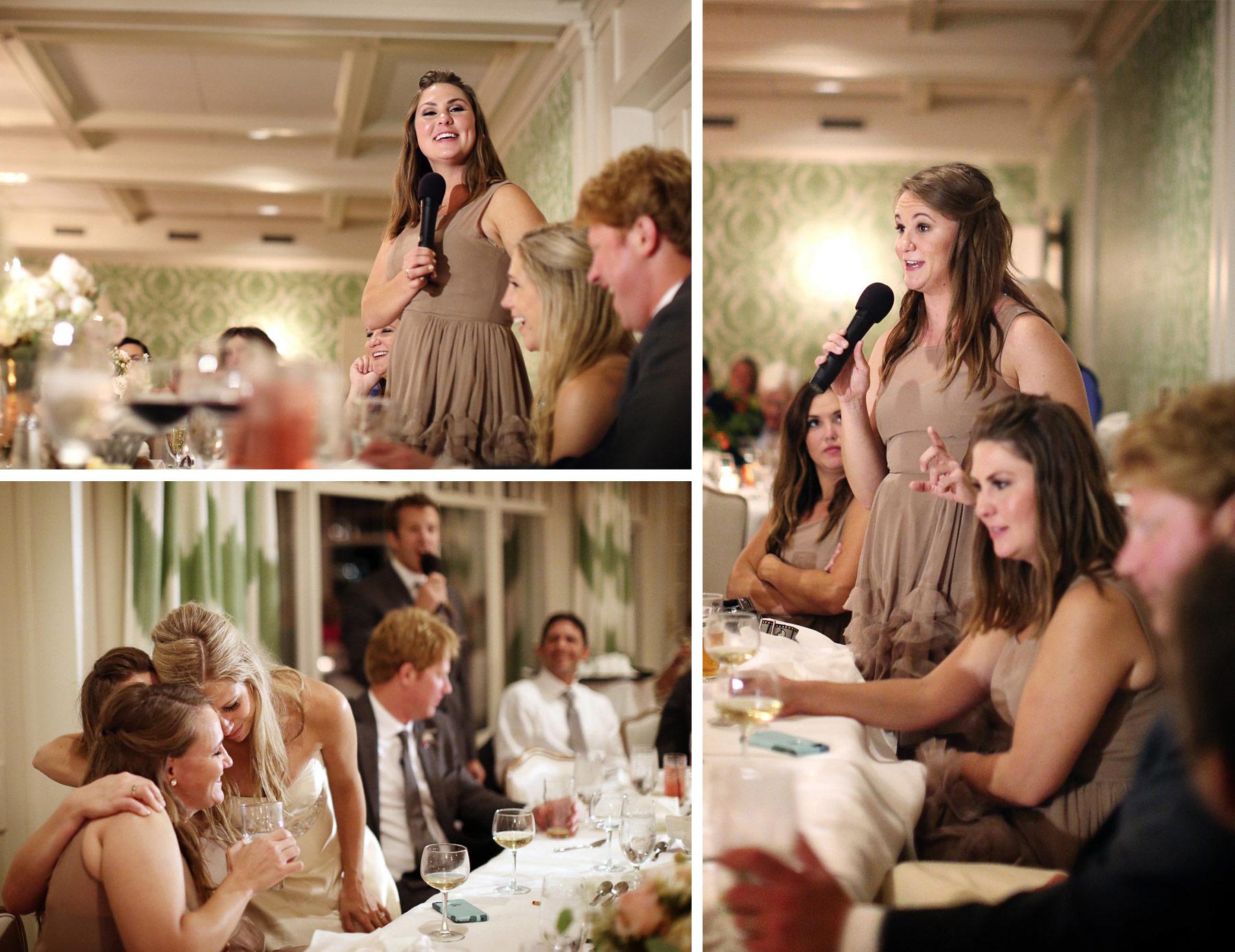 20-Minneapolis-Minnesota-Wedding-Photographer-by-Andrew-Vick-Photography-Fall-Autumn-Minikahda-Club-Reception-Bride-Groom-Speeches-Bridesmaids-Hugs-Embrace-Krissy-and-James.jpg
