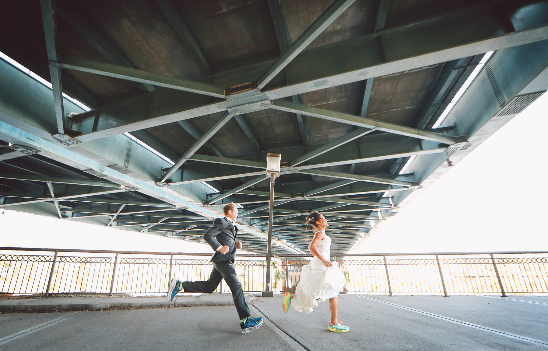 17-Minneapolis-Minnesota-Wedding-Photographer-by-Andrew-Vick-Photography-Fall-Autumn-Bride-Groom-Hennepin-Avenue-Bridge-Running-Shoes-Vintage-Paula-and-Jason.jpg