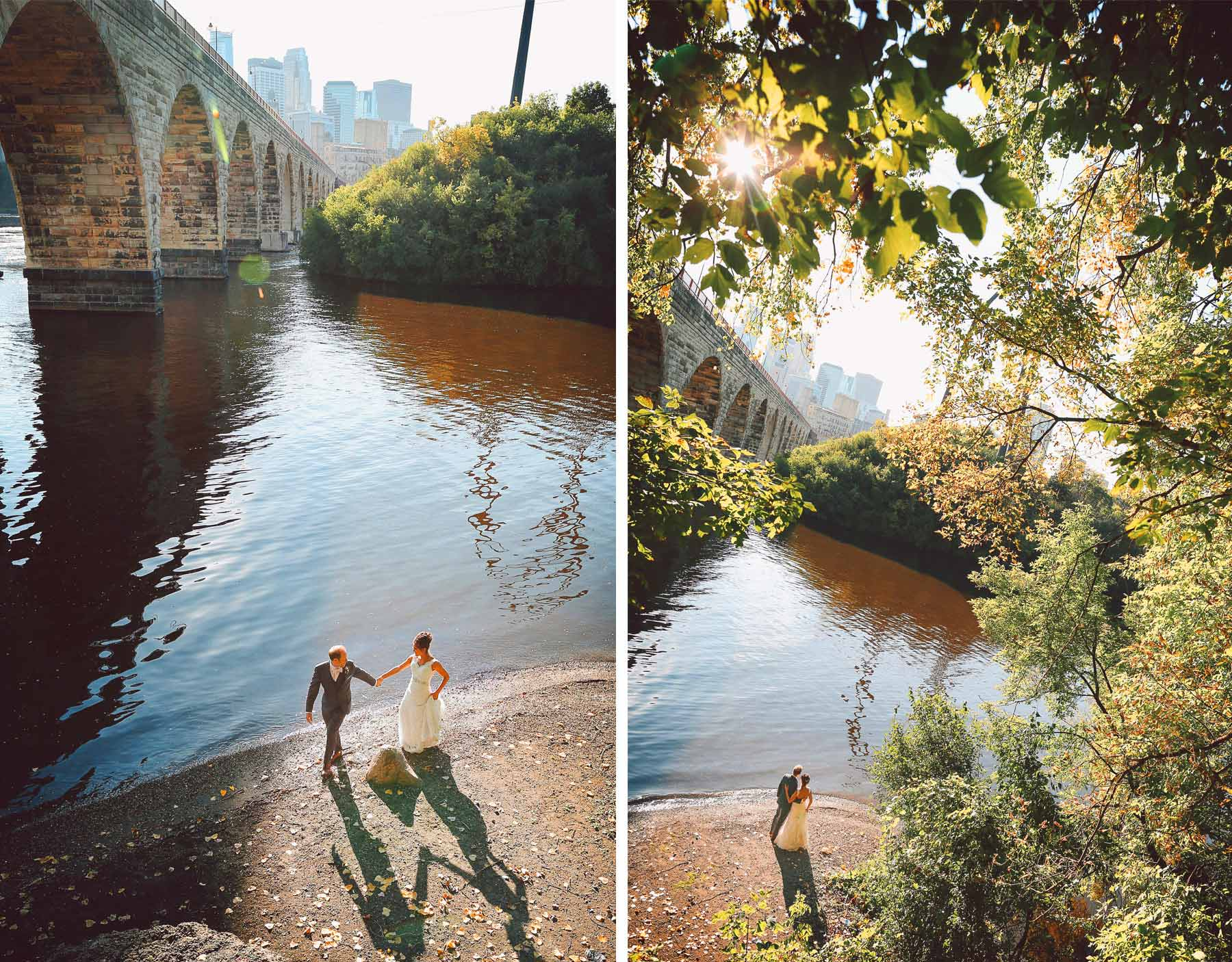 18-Minneapolis-Minnesota-Wedding-Photographer-by-Andrew-Vick-Photography-Fall-Autumn-Bride-Groom-Stone-Arch-Bridge-Mississippi-River-Vintage-Paula-and-Jason.jpg