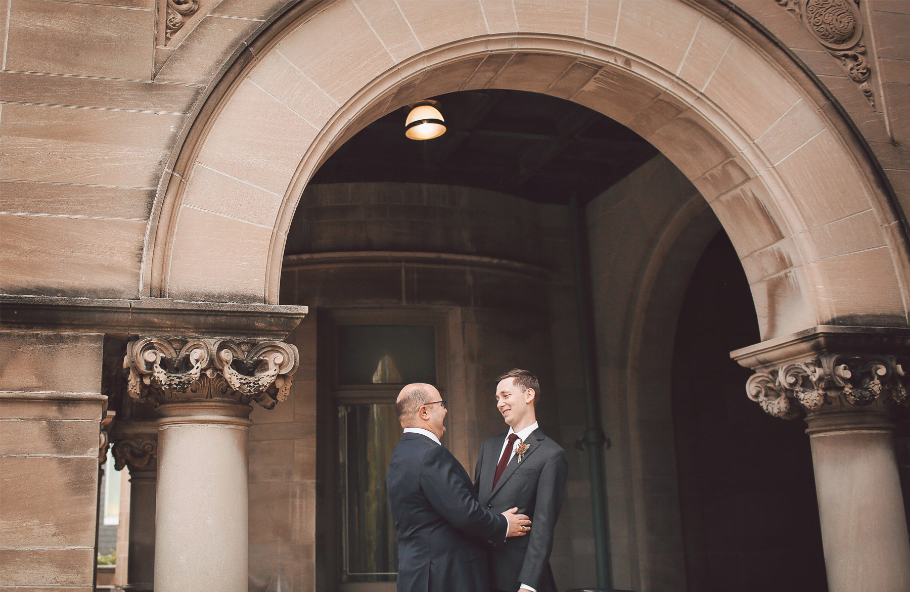 02-Minneapolis-Minnesota-Wedding-Photographer-by-Andrew-Vick-Photography-Fall-Autumn-American-Swedish-Institute-First-Meeting-Look-Groom-Vintage-Ben-and-Adam.jpg