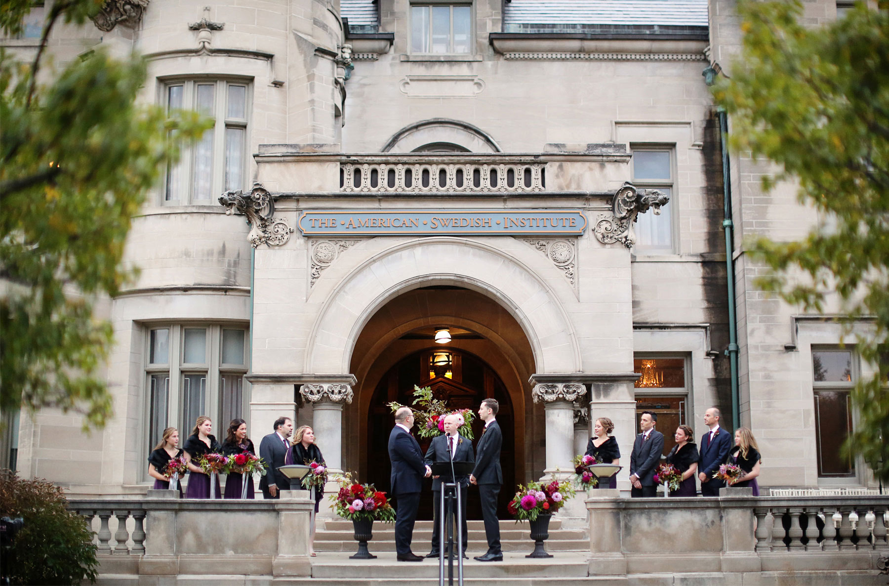 12-Minneapolis-Minnesota-Wedding-Photographer-by-Andrew-Vick-Photography-Fall-Autumn-American-Swedish-Institute-Ceremony-Groom-Groomsmen-Bridesmaids-Vows-Ben-and-Adam.jpg