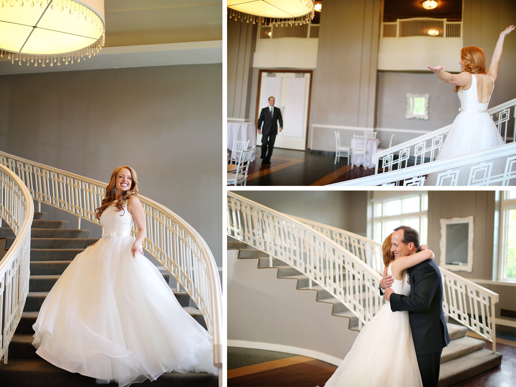 04-Minneapolis-Minnesota-Wedding-Photographer-by-Andrew-Vick-Photography-Fall-Autumn-Calhoun-Beach-Club-Getting-Ready-Bride-Father-Daughter-Reveal-Staircase-Stairs-Hug-Embrace-Kristy-and-Jack.jpg