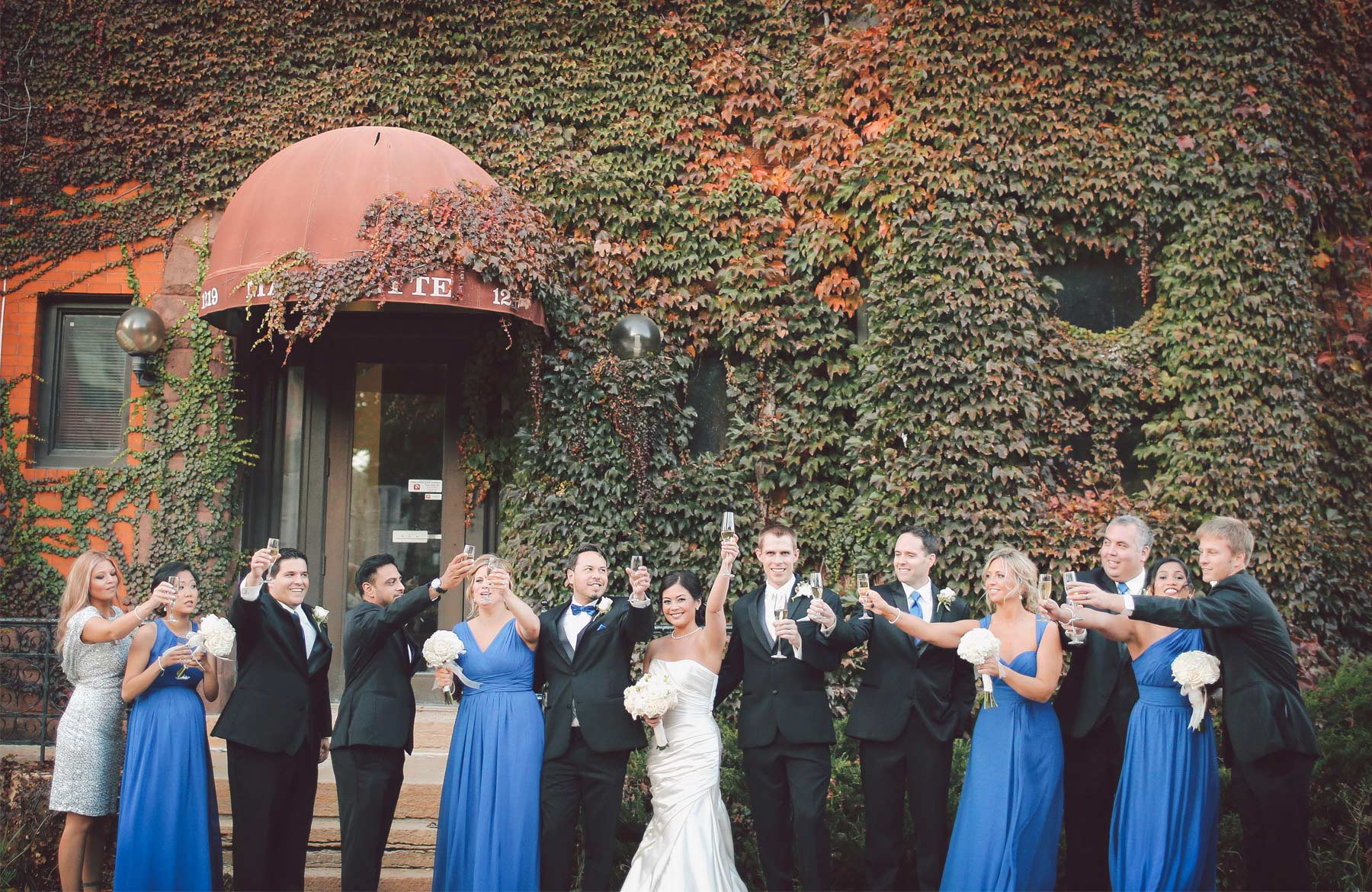 17-Minneapolis-Minnesota-Wedding-Photographer-by-Andrew-Vick-Photography-Fall-Autumn-Convention-Center-Bride-Groom-Bridal-Party-Bridesmaids-Groomsmen-Champagne-Vintage-Amanda-and-Cary.jpg