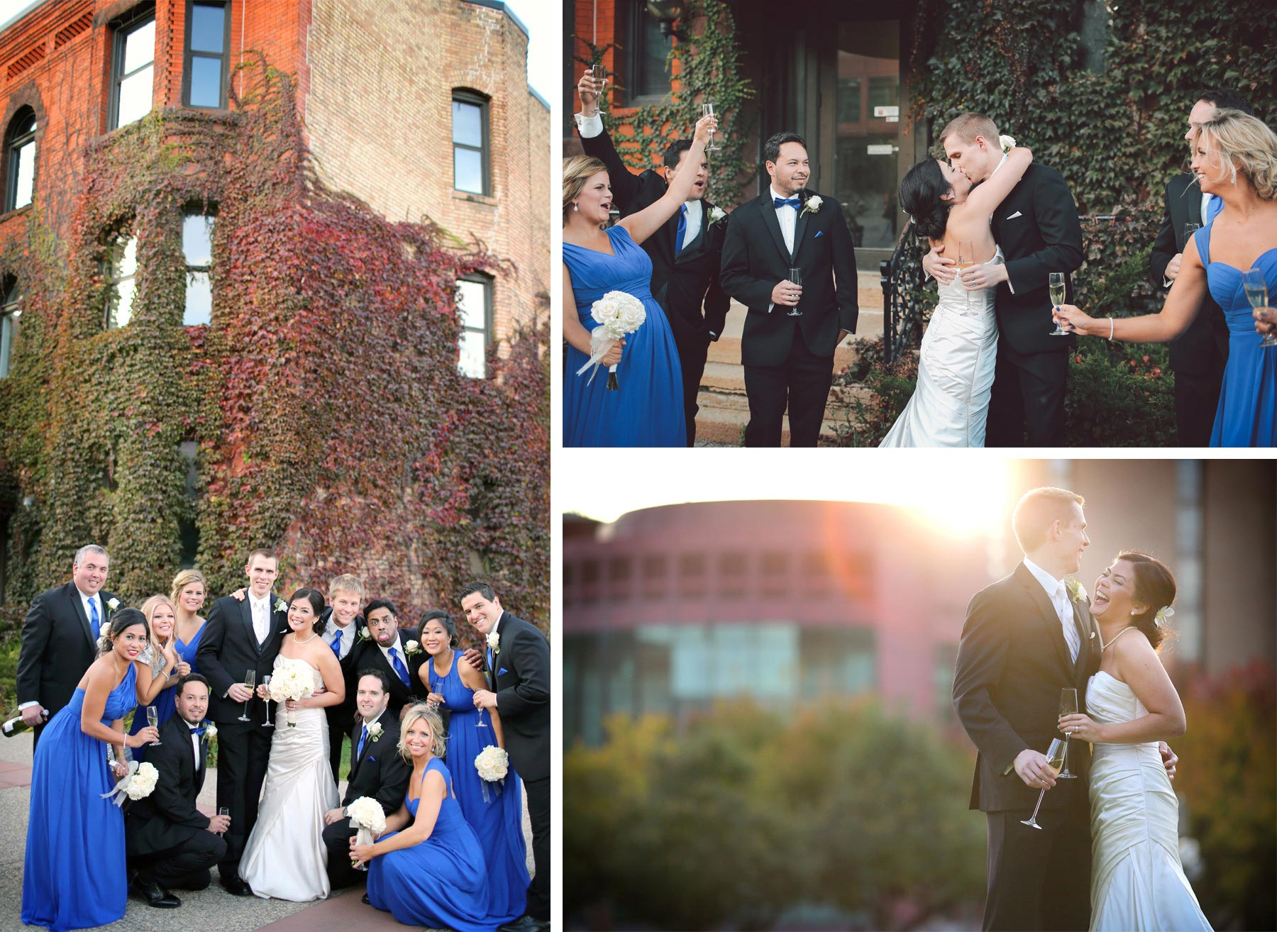 18-Minneapolis-Minnesota-Wedding-Photographer-by-Andrew-Vick-Photography-Fall-Autumn-Convention-Center-Bride-Groom-Bridal-Party-Bridesmaids-Groomsmen-Champagne-Kiss--Laughter-Vintage-Amanda-and-Cary.jpg