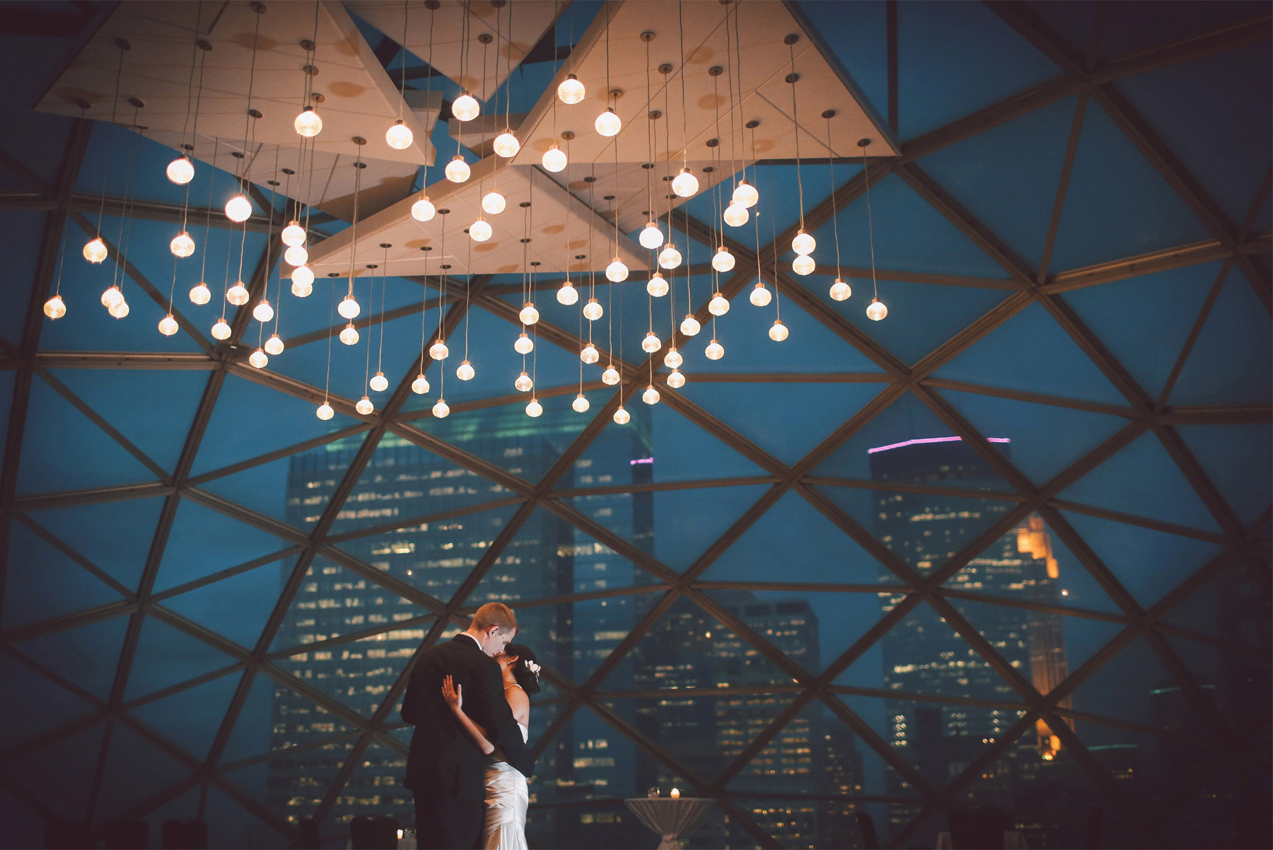 24-Minneapolis-Minnesota-Wedding-Photographer-by-Andrew-Vick-Photography-Fall-Autumn-Millennium-Hotel-Reception-Bride-Groom-Dance-Night-Skyline-Vintage-Amanda-and-Cary.jpg