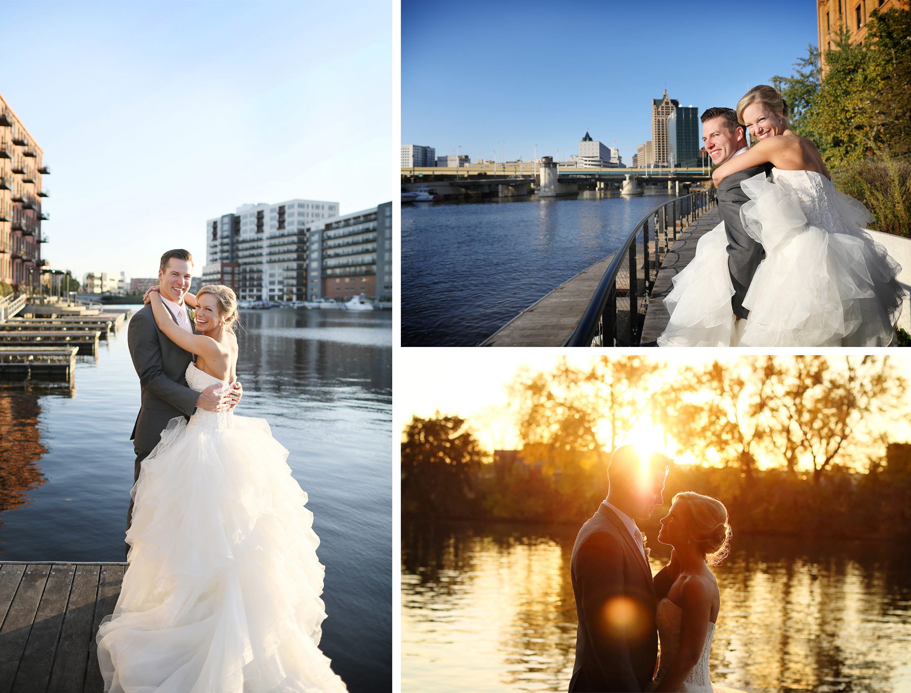 20-Milwaukee-Wisconsin-Wedding-Photographer-by-Andrew-Vick-Photography-Fall-Autumn-Destination-Bride-Groom-Downtown-River-Piggyback-Ride-Sunset-Sunflare-Tina-and-Kevin.jpg