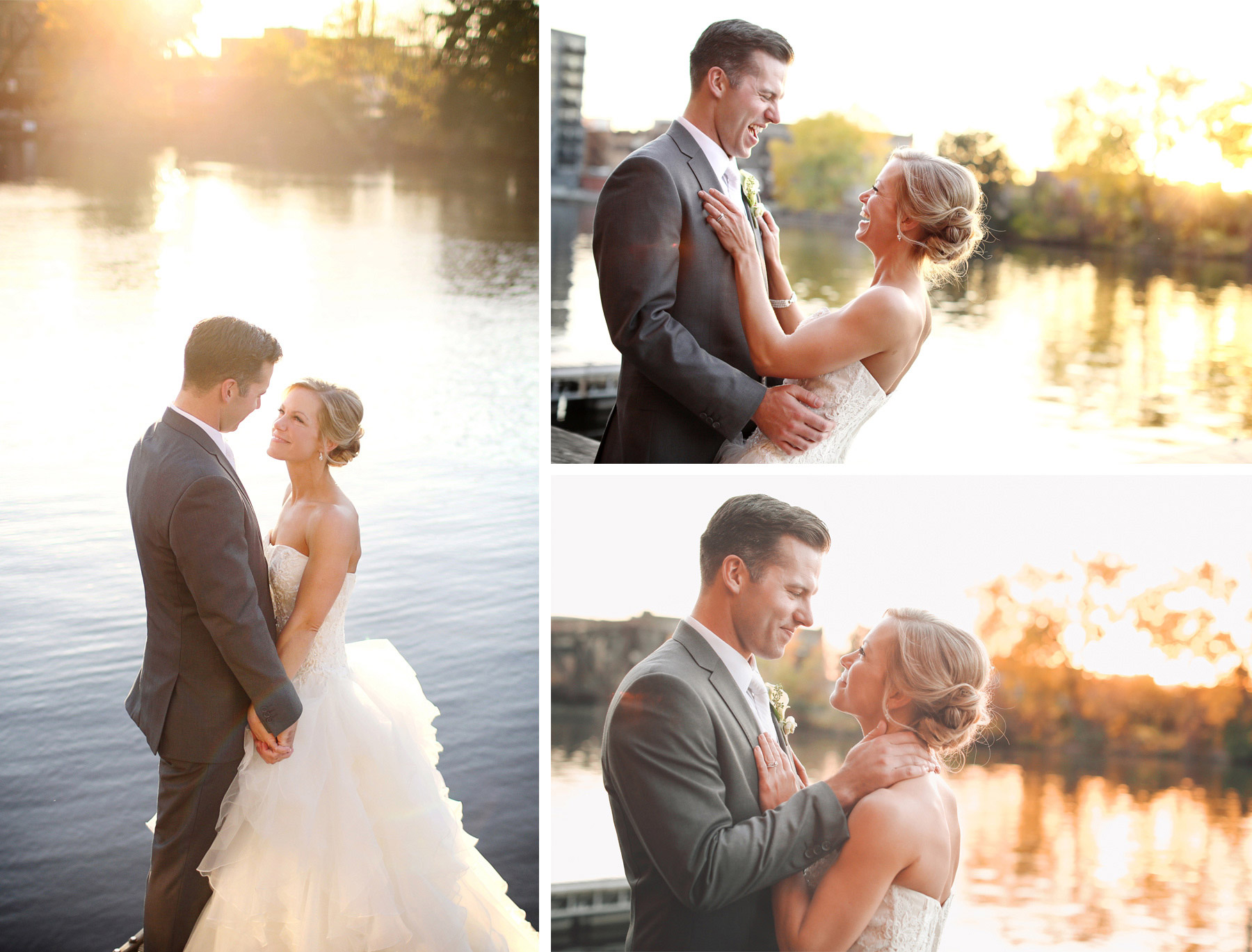 22-Milwaukee-Wisconsin-Wedding-Photographer-by-Andrew-Vick-Photography-Fall-Autumn-Destination-Bride-Groom-Downtown-River-Laughter-Embrace-Sunset-Sunflare-Vintage-Tina-and-Kevin.jpg