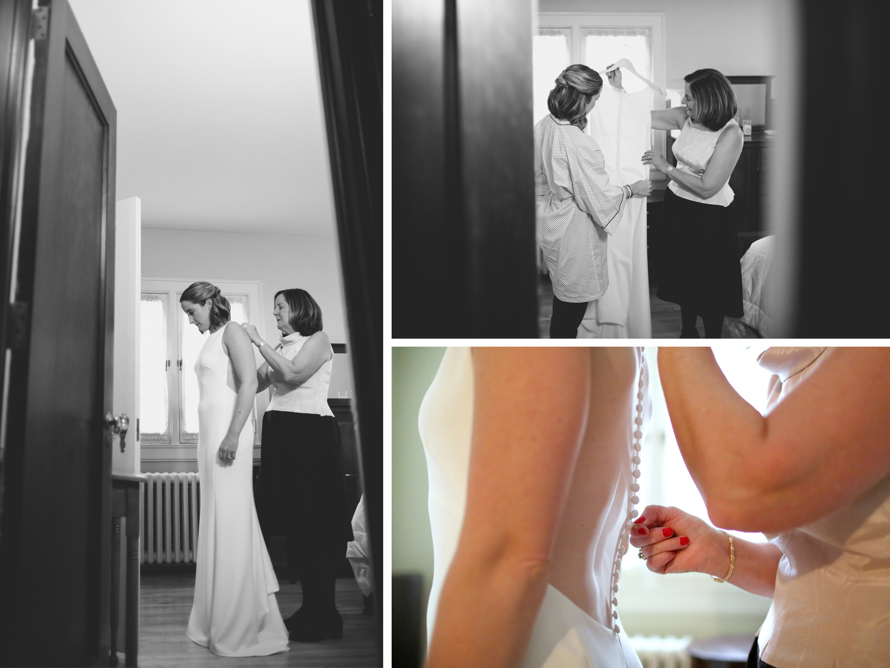 02-Saint-Paul-Minnesota-Wedding-Photographer-by-Andrew-Vick-Photography-Fall-Autumn-Parents-House-Getting-Ready-Bride-Mother-Dress-Black-and-White-Kathryn-and-Sam.jpg