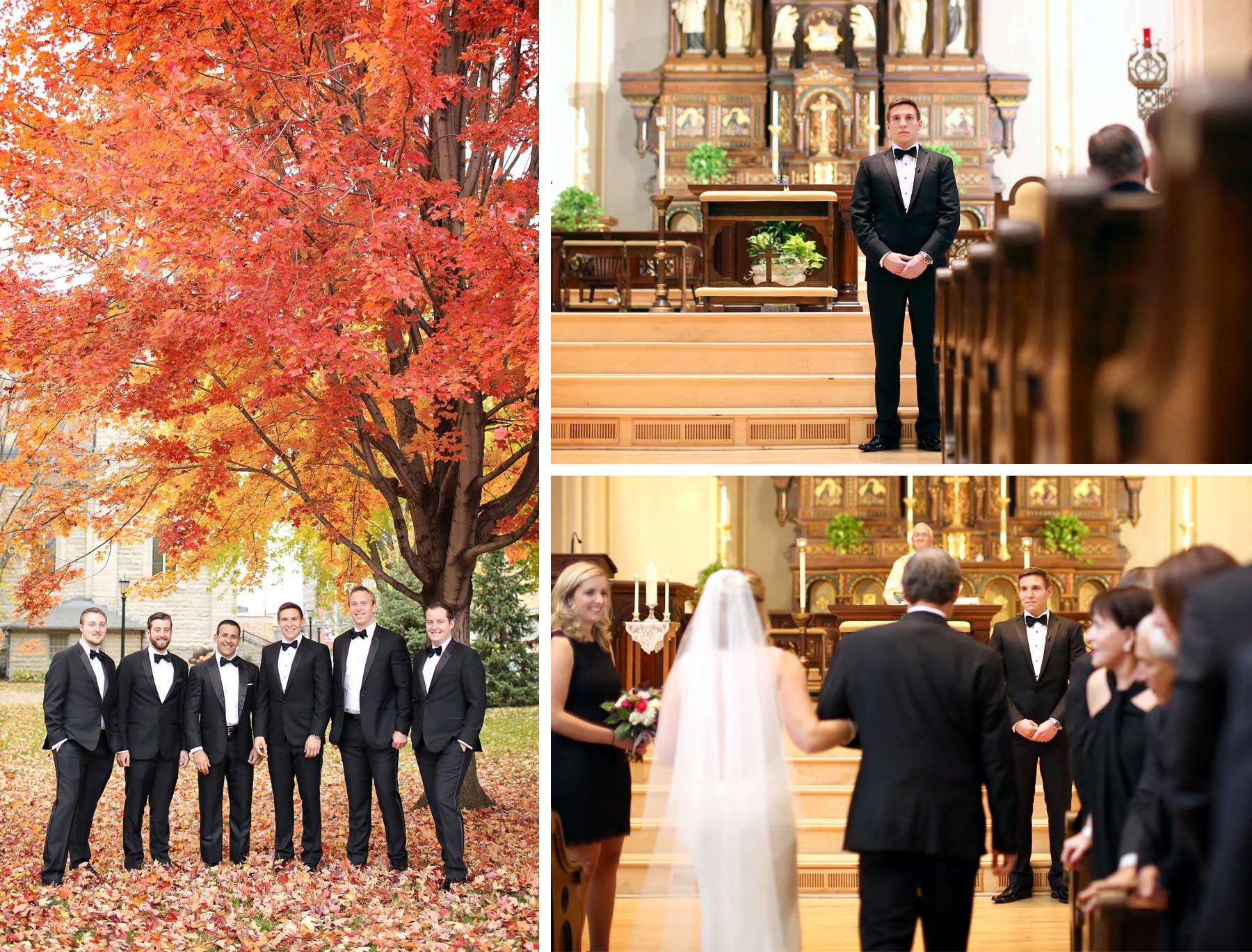 05-Saint-Paul-Minnesota-Wedding-Photographer-by-Andrew-Vick-Photography-Fall-Autumn-Church-of-the-Assumption-Ceremony-Bride-Groom-Groomsmen-Processional-Father-Parents-Kathryn-and-Sam.jpg