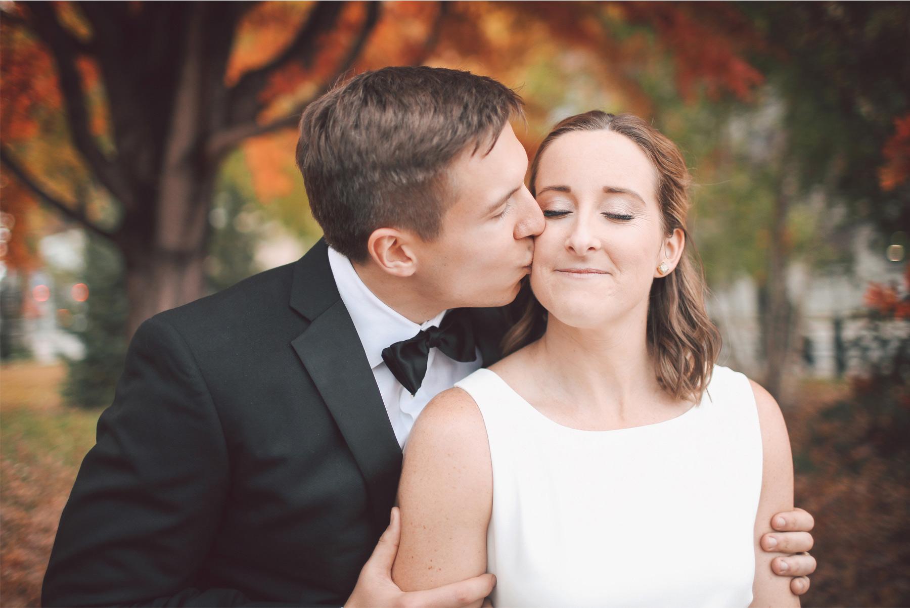 11-Saint-Paul-Minnesota-Wedding-Photographer-by-Andrew-Vick-Photography-Fall-Autumn-Rice-Park-Bride-Groom-Kiss-Vintage-Kathryn-and-Sam.jpg