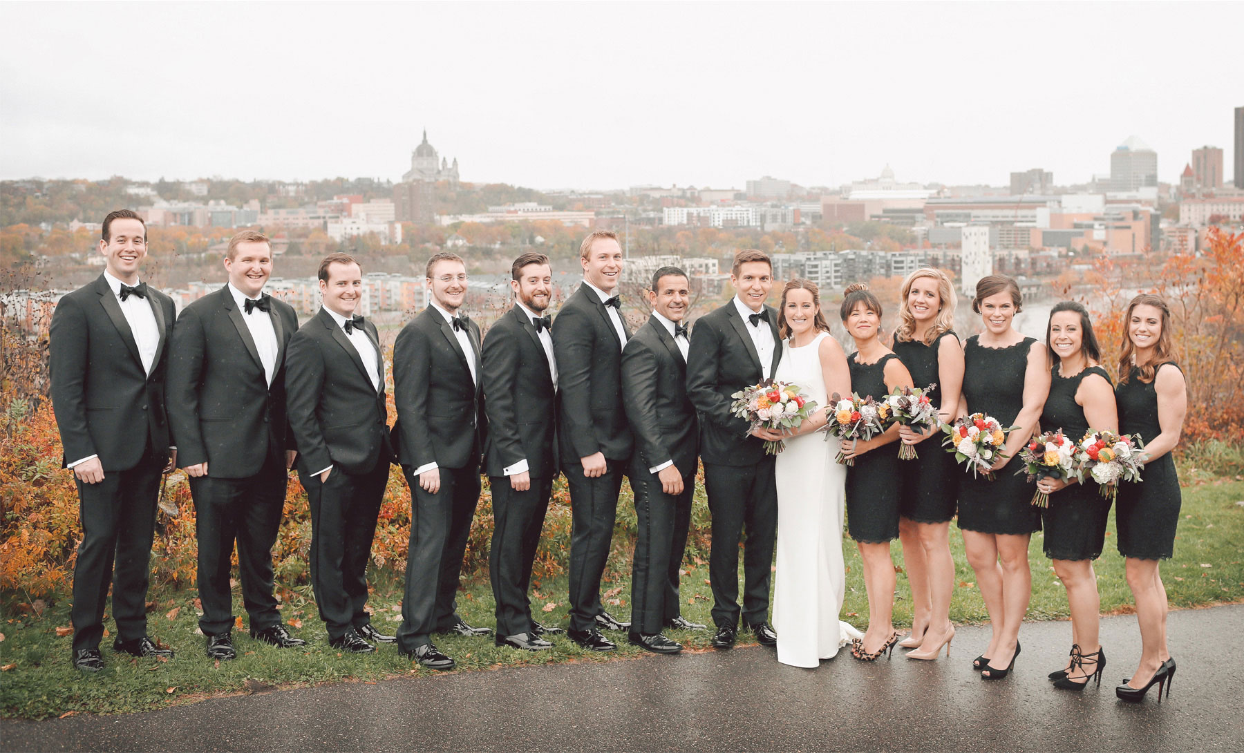 13-Saint-Paul-Minnesota-Wedding-Photographer-by-Andrew-Vick-Photography-Fall-Autumn-Bride-Groom-Bridal-Party-Groomsmen-Bridesmaids-Flowers-Skyline-Vintage-Kathryn-and-Sam.jpg