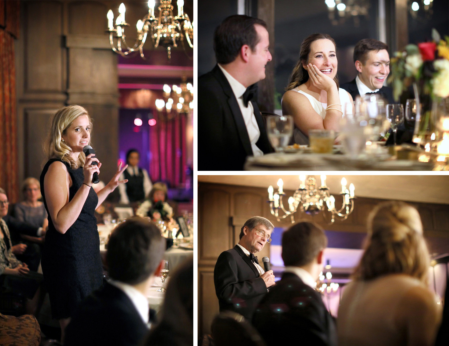 18-Saint-Paul-Minnesota-Wedding-Photographer-by-Andrew-Vick-Photography-Fall-Autumn-Town-and-Country-Club-Reception-Bride-Groom-Father-Parents-Bridesmaids-Speeches-Kathryn-and-Sam.jpg