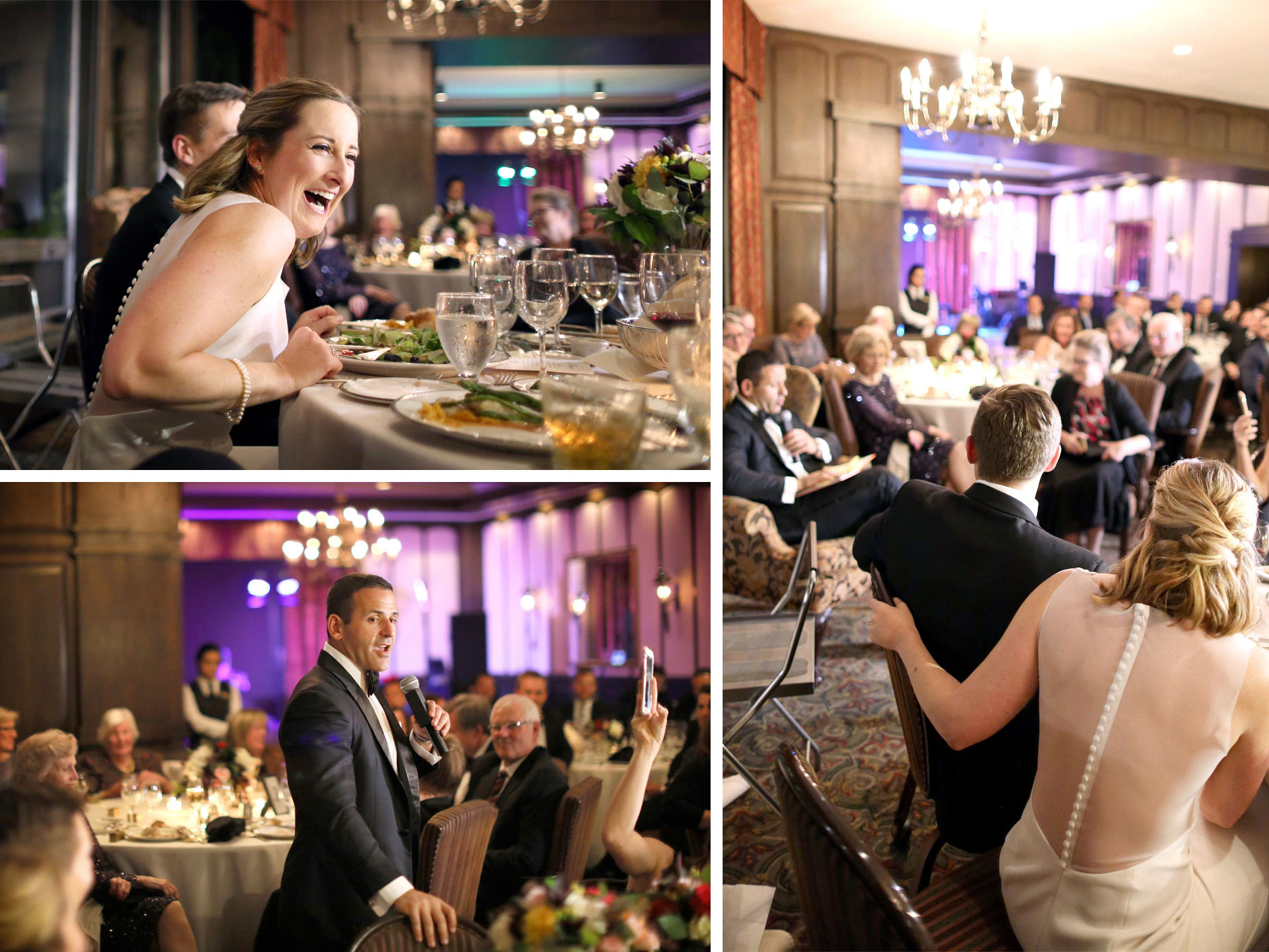 19-Saint-Paul-Minnesota-Wedding-Photographer-by-Andrew-Vick-Photography-Fall-Autumn-Town-and-Country-Club-Reception-Bride-Groom-Groomsmen-Book-Laughter-Speeches-Kathryn-and-Sam.jpg