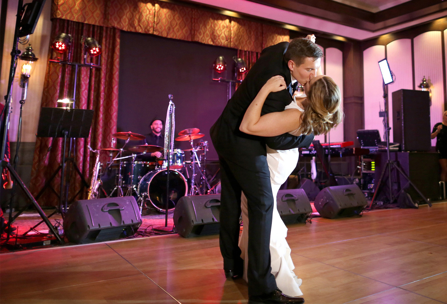 20-Saint-Paul-Minnesota-Wedding-Photographer-by-Andrew-Vick-Photography-Fall-Autumn-Town-and-Country-Club-Reception-Bride-Groom-Dance-Dip-Kiss-Kathryn-and-Sam.jpg