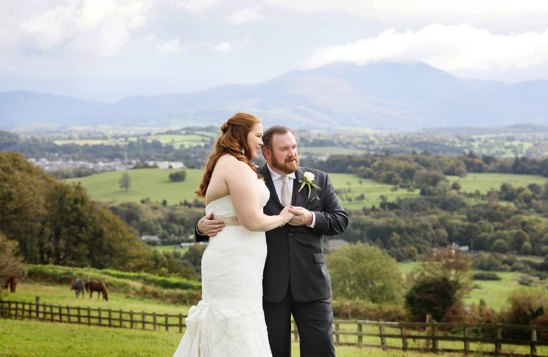 23-Kilarney-Ireland-Wedding-Photographer-by-Andrew-Vick-Photography-Fall-Autumn-Destination-First-Meeting-Look-Bride-Groom-Embrace-Landscape-Village-Field-Becca-and-Donal.jpg