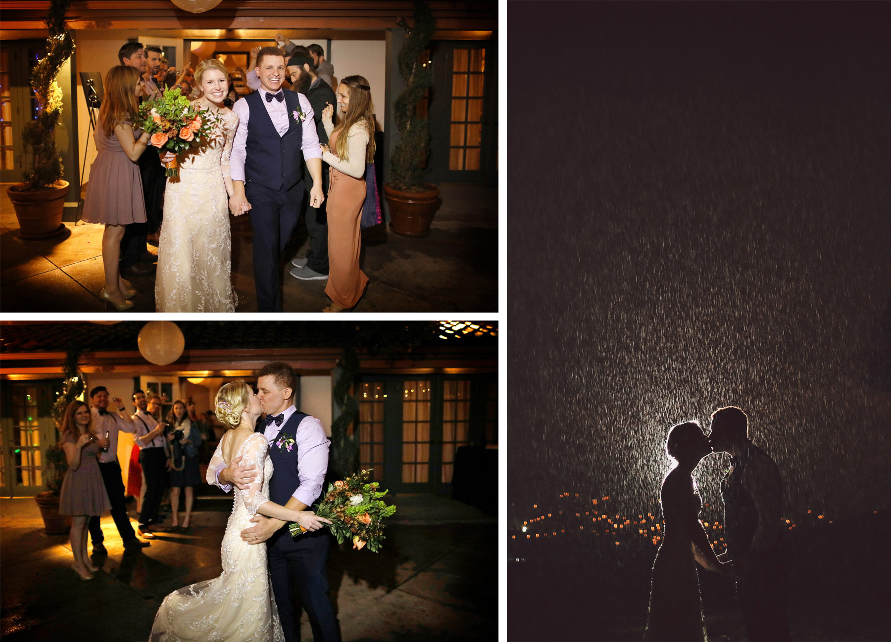 18-La-Canada-Flintridge-California-Wedding-Photographer-by-Andrew-Vick-Photography-Fall-Autumn-Destination-Reception-Bride-Groom-Night-Kiss-Rain-Fawn-and-Jay.jpg