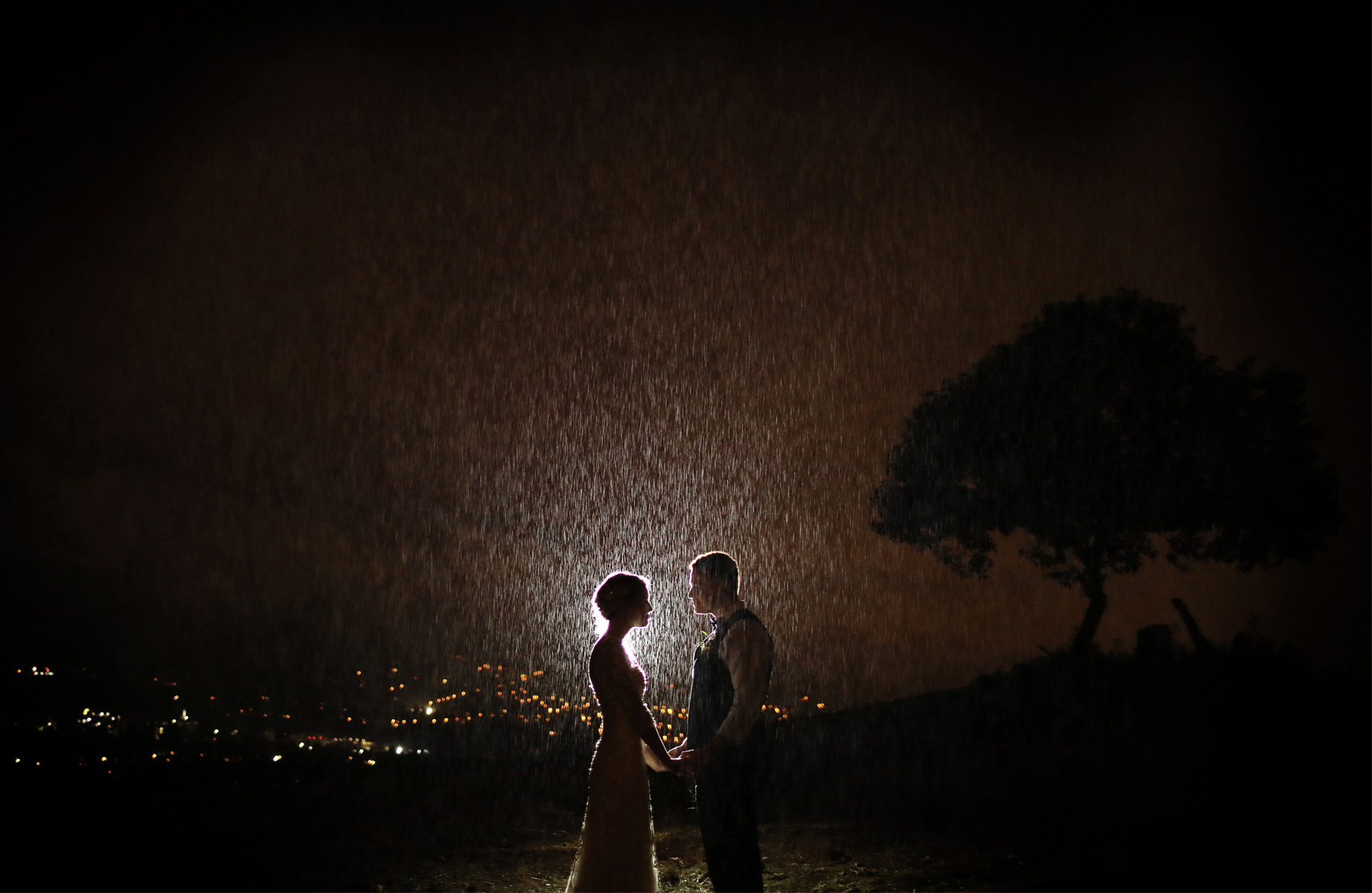 19-La-Canada-Flintridge-California-Wedding-Photographer-by-Andrew-Vick-Photography-Fall-Autumn-Destination-Reception-Bride-Groom-Night-Rain-Fawn-and-Jay.jpg