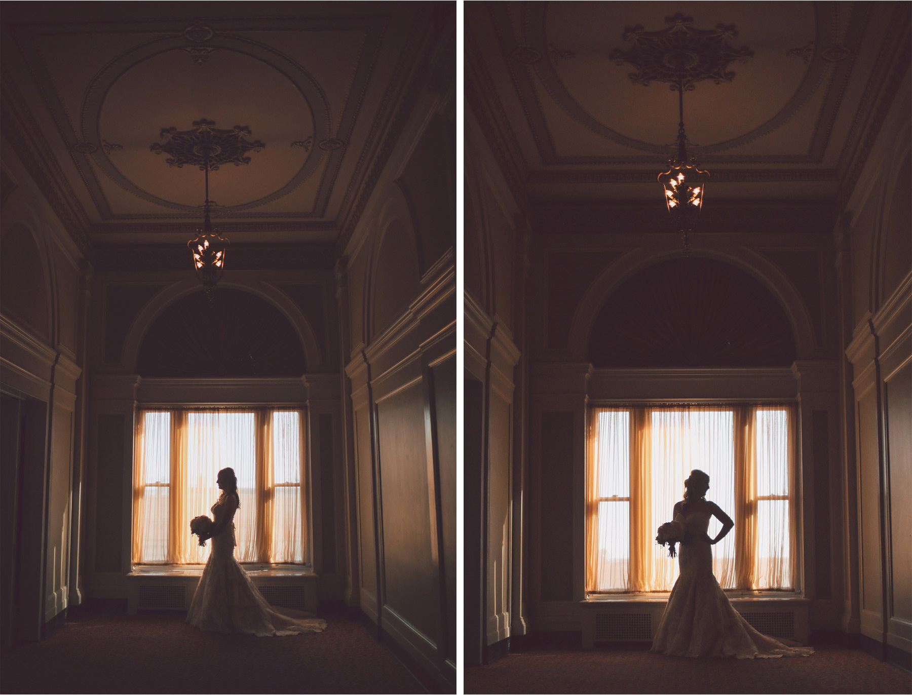 04-Duluth-Minnesota-Wedding-Photographer-by-Andrew-Vick-Photography-Fall-Autumn-Greysolon-Ballroom-Getting-Ready-Bride-Dress-Silhouette-Vintage-Molly-and-Carson.jpg