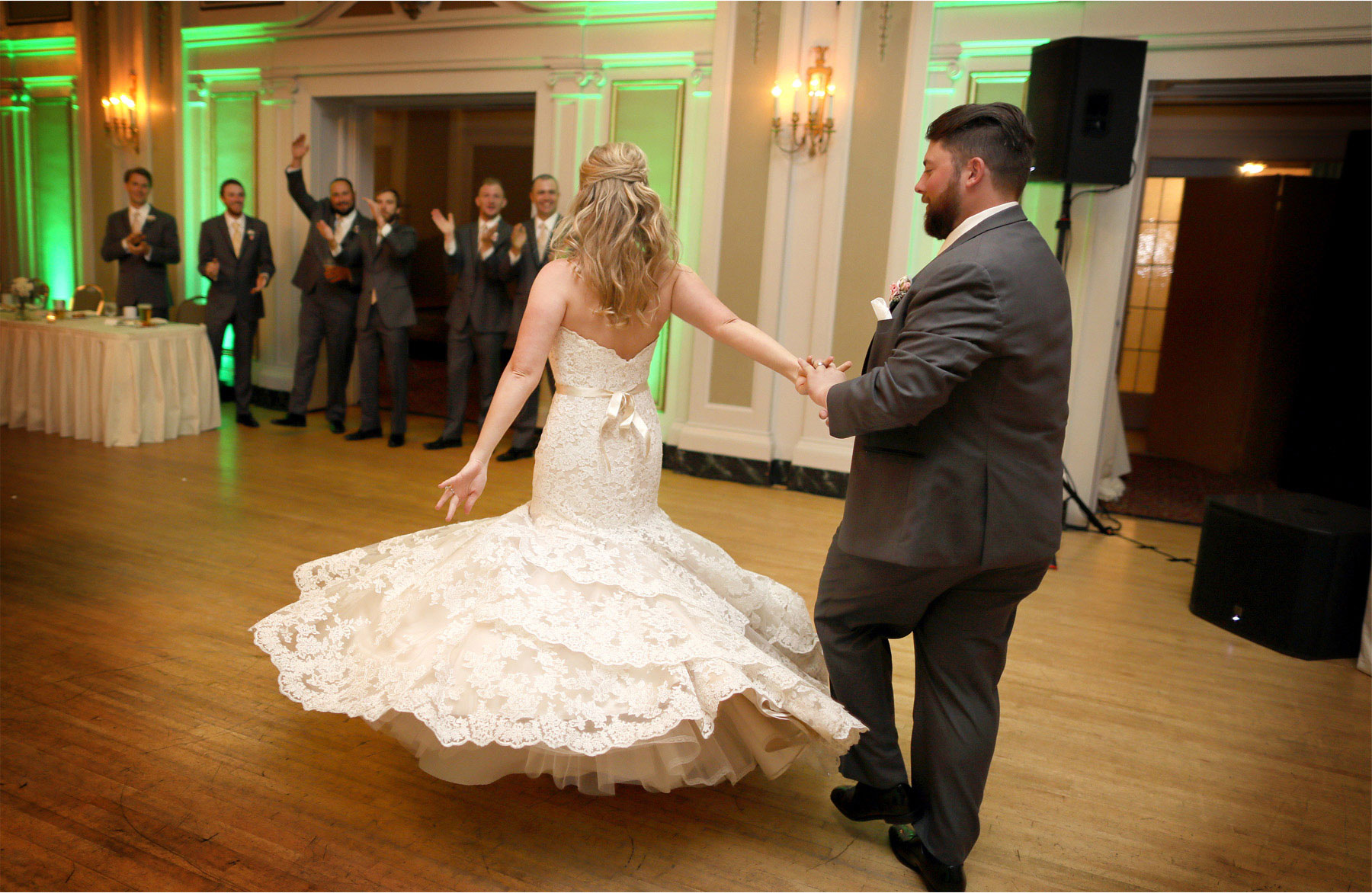 16-Duluth-Minnesota-Wedding-Photographer-by-Andrew-Vick-Photography-Fall-Autumn-Greysolon-Ballroom-Reception-Bride-Groom-Grand-March-Twirl-Molly-and-Carson.jpg
