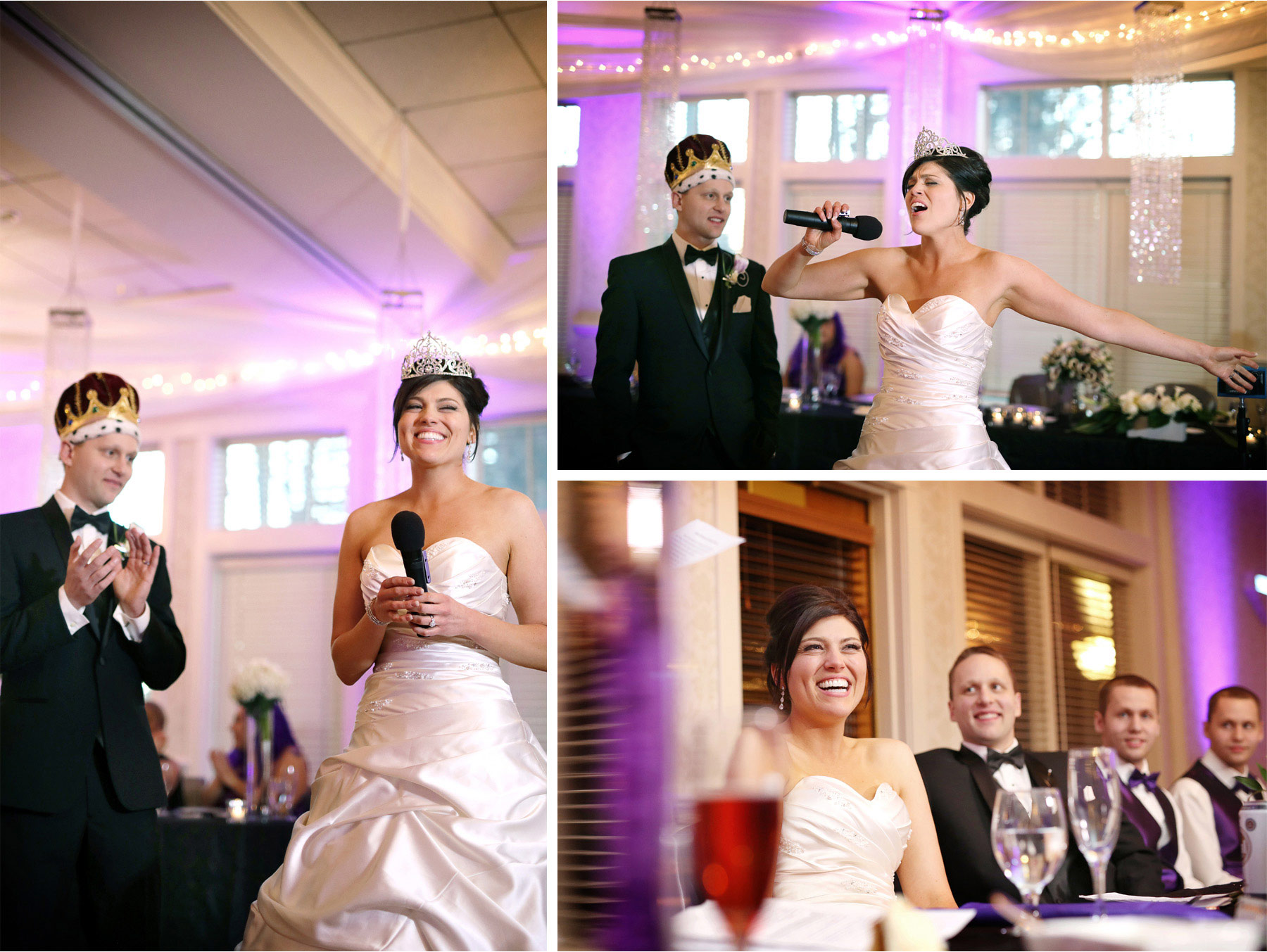 23-Eden-Prairie-Minnesota-Wedding-Photographer-by-Andrew-Vick-Photography-Fall-Autumn-Bearpath-Golf-Country-Club-Reception-Bride-Groom-Crown-Tiara-King-Queen-Speeches-Singing-Singer-Laughter-Brittany-and-Ryan.jpg