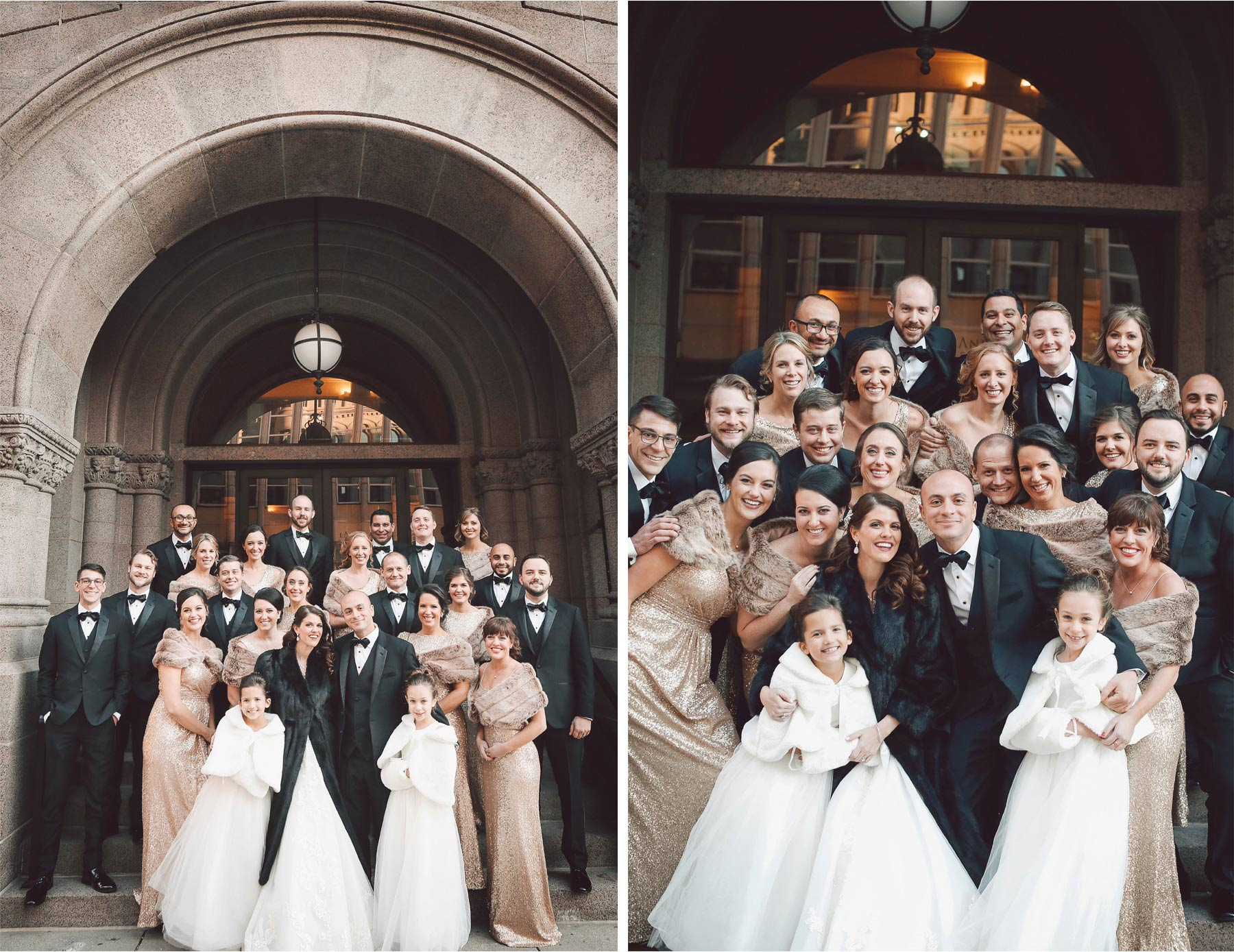 11-Saint-Paul-Minnesota-Wedding-Photographer-by-Andrew-Vick-Photography-Winter-New-Years-Eve-Landmark-Center-Bride-Groom-Bridal-Party-Bridesmaids-Groomsmen-Fur-Coat-Shrug-Vintage-Emily-and-Michael.jpg