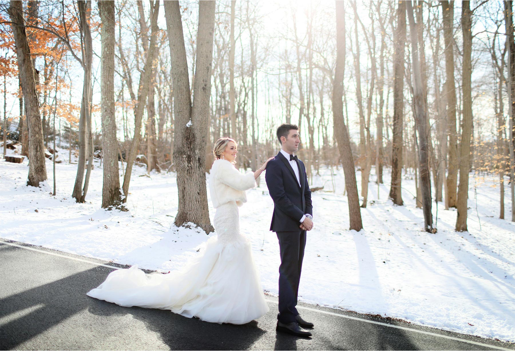 05-Watchung-New-Jersey-Wedding-Photographer-by-Andrew-Vick-Photography-Winter-Saint-Marys-Chuch-Stony-Hill-First-Meeting-Look-Bride-Groom-Fur-Coat-Alexia-and-Justin.jpg