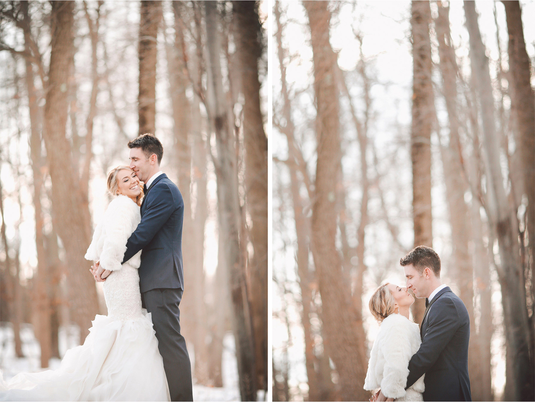 07-Watchung-New-Jersey-Wedding-Photographer-by-Andrew-Vick-Photography-Winter-Saint-Marys-Chuch-Stony-Hill-First-Meeting-Look-Bride-Groom-Fur-Coat-Kiss-Embrace-Vintage-Alexia-and-Justin.jpg