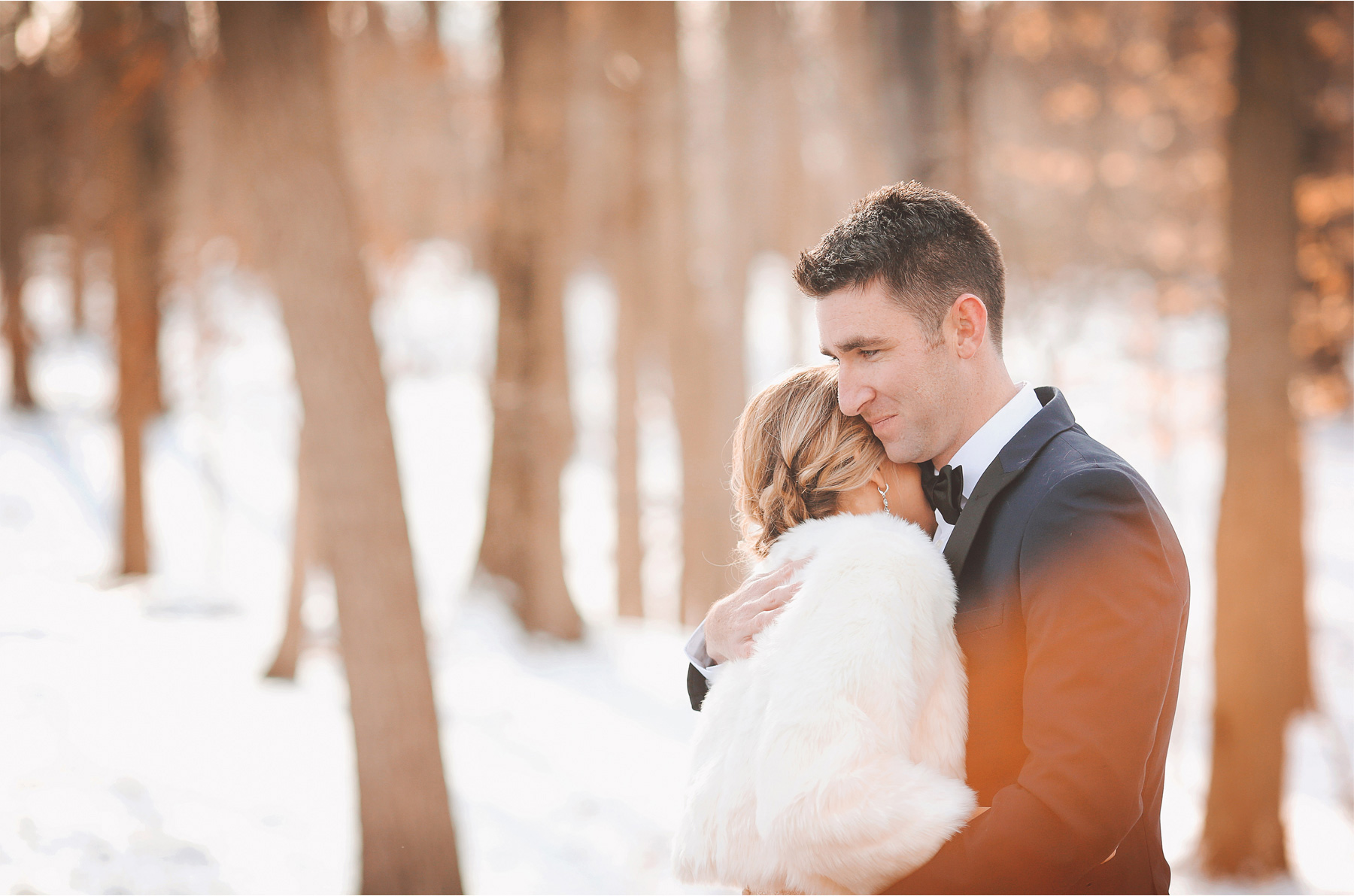 08-Watchung-New-Jersey-Wedding-Photographer-by-Andrew-Vick-Photography-Winter-Saint-Marys-Chuch-Stony-Hill-First-Meeting-Look-Bride-Groom-Fur-Coat-Embrace-Vintage-Alexia-and-Justin.jpg
