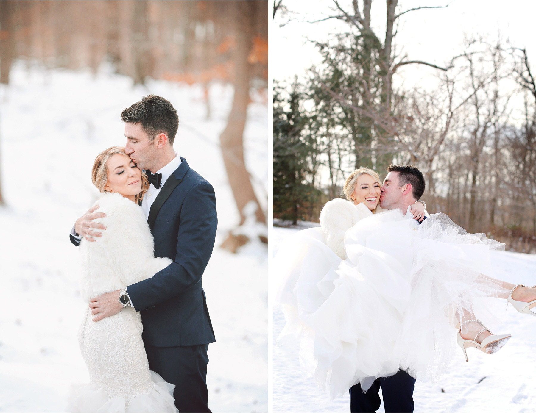 09-Watchung-New-Jersey-Wedding-Photographer-by-Andrew-Vick-Photography-Winter-Saint-Marys-Chuch-Stony-Hill-First-Meeting-Look-Bride-Groom-Fur-Coat-Embrace-Kiss-Lift-Alexia-and-Justin.jpg