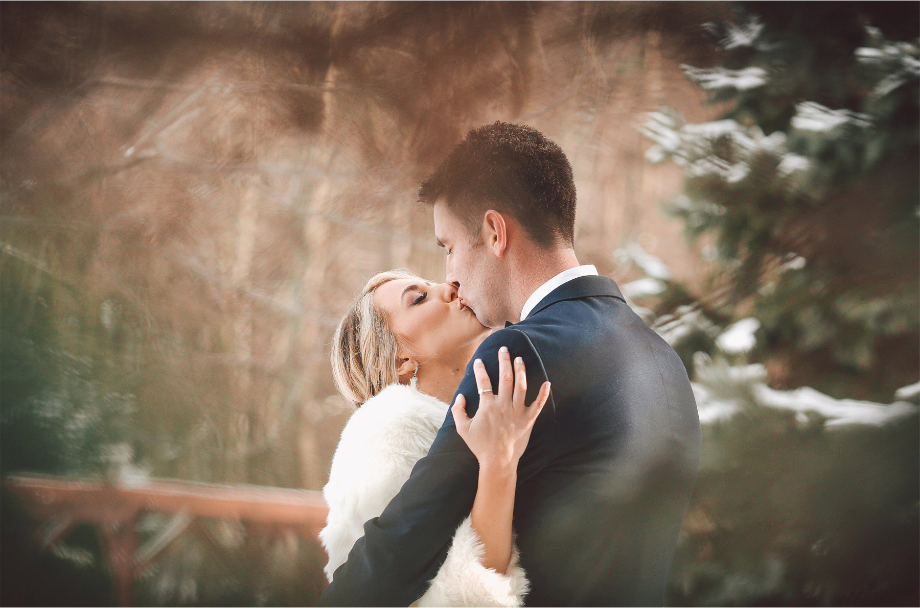 11-Watchung-New-Jersey-Wedding-Photographer-by-Andrew-Vick-Photography-Winter-Saint-Marys-Chuch-Stony-Hill-First-Meeting-Look-Bride-Groom-Fur-Coat-Kiss-Vintage-Alexia-and-Justin.jpg