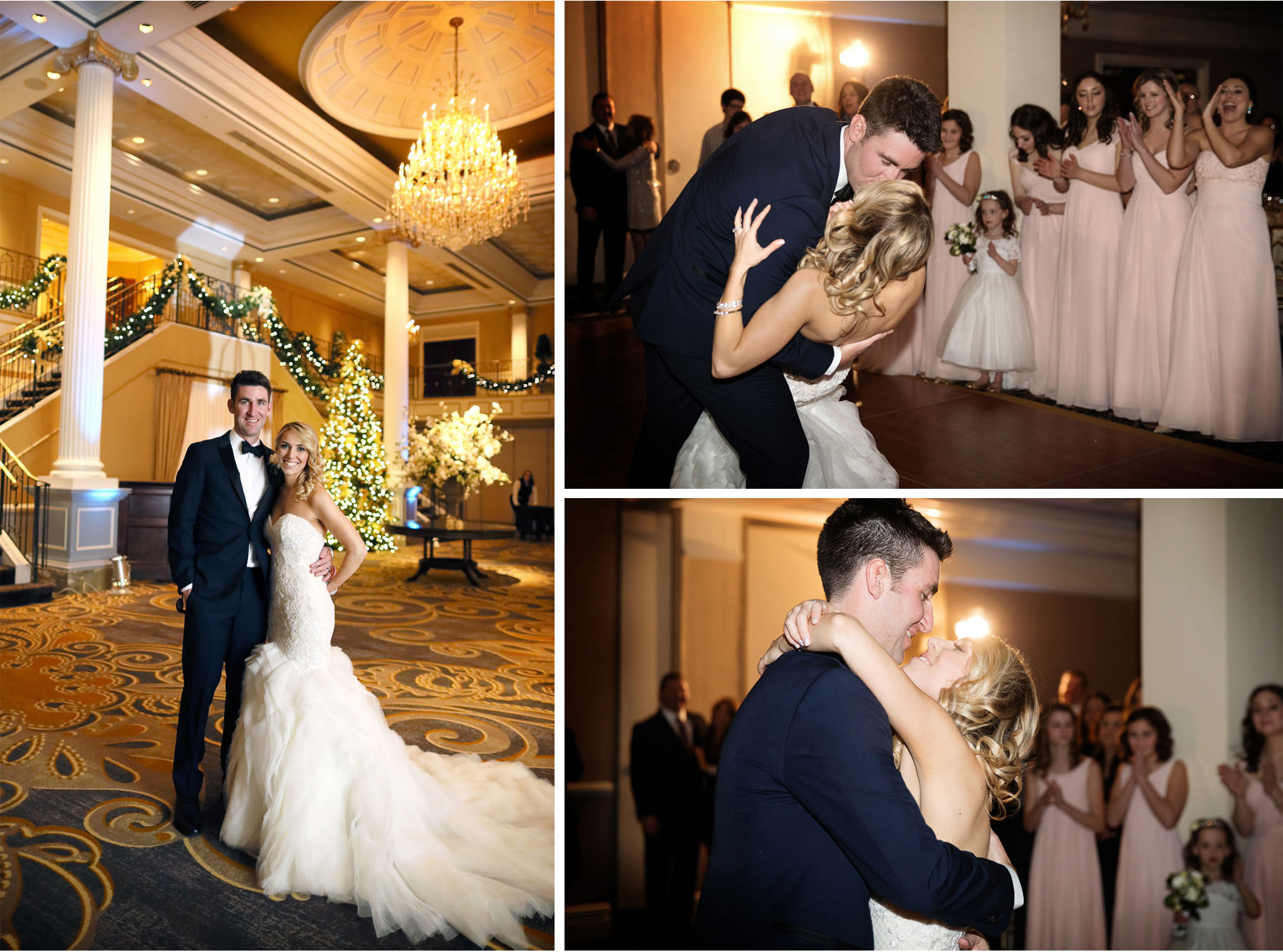 20-Somerset-New-Jersey-Wedding-Photographer-by-Andrew-Vick-Photography-Winter-Palace-At-Somerset-Park-Reception-Bride-Groom-Kiss-Bridesmaids-Flower-Girl-Dance-Dip-Alexia-and-Justin.jpg