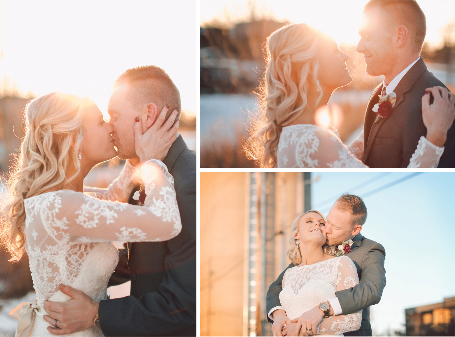 16-Minneapolis-Minnesota-Wedding-Photographer-by-Andrew-Vick-Photography-Winter-McNamara-Alumni-Center-Bride-Groom-Kiss-Embrace-Vintage-Brittany-and-Joseph.jpg