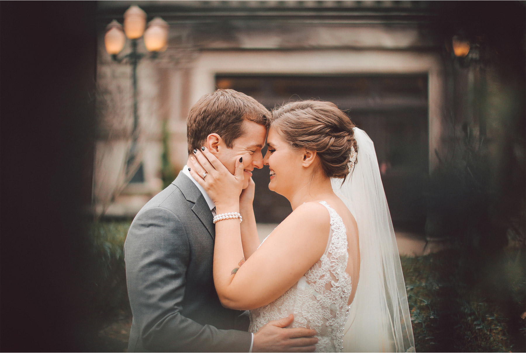 08-Chicago-Illinois-Wedding-Photographer-by-Andrew-Vick-Photography-Winter-Stan-Mansion-First-Meeting-Look-Bride-Groom-Hugs-Embrace-Vintage-Colleen-and-Mike.jpg