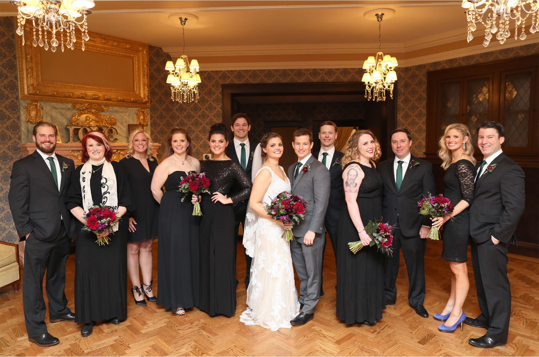12-Chicago-Illinois-Wedding-Photographer-by-Andrew-Vick-Photography-Winter-Stan-Mansion-Bride-Groom-Bridesmaids-Groomsmen-Flowers-Colleen-and-Mike.jpg