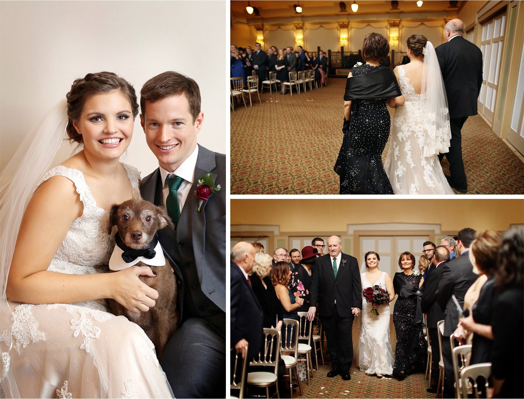 15-Chicago-Illinois-Wedding-Photographer-by-Andrew-Vick-Photography-Winter-Stan-Mansion-Bride-Groom-Dog-Bowtie-Ceremony-Processional-Parents-Mother-Father-Colleen-and-Mike.jpg