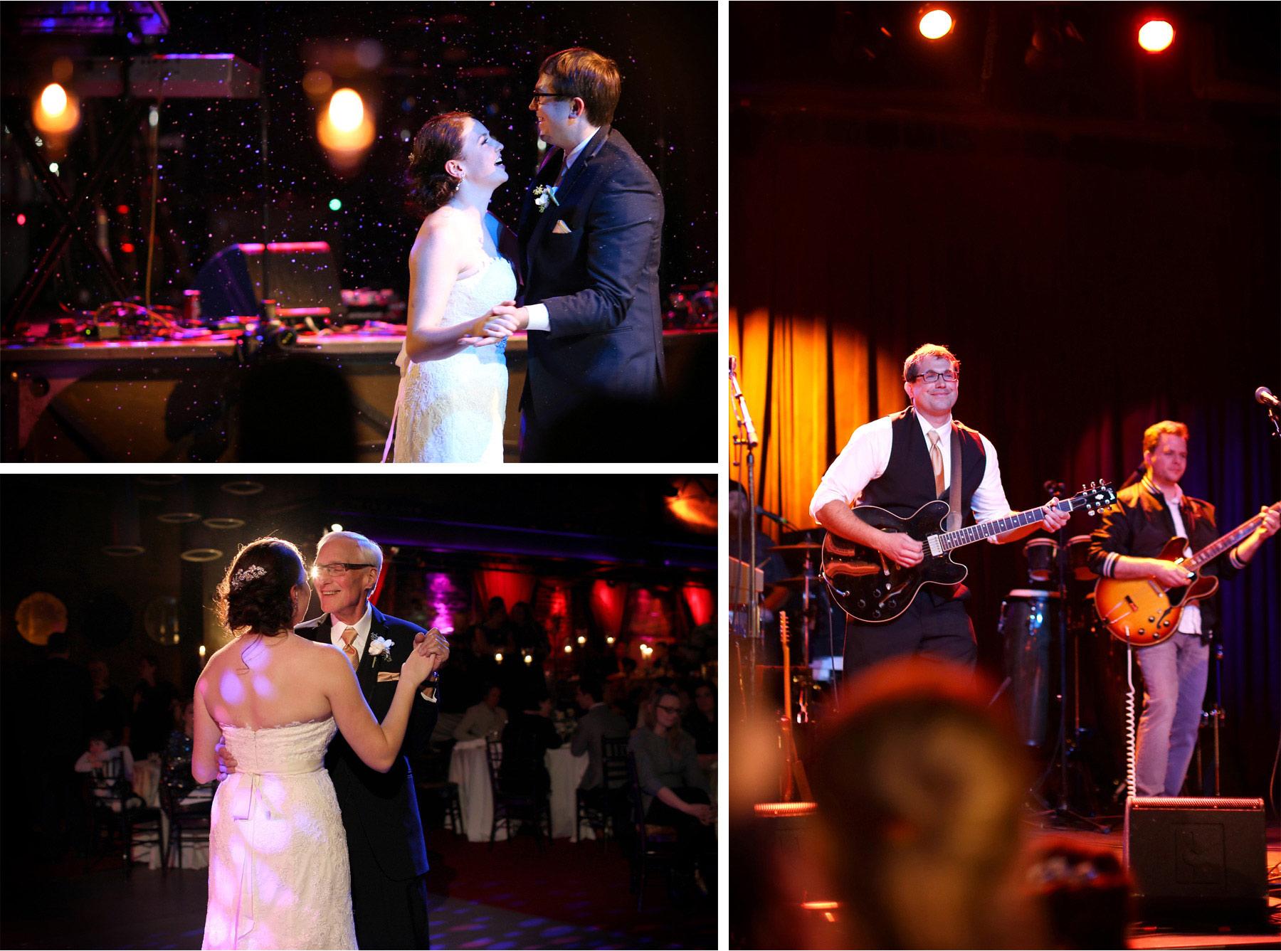 21-Minneapolis-Minnesota-Wedding-Photographer-by-Andrew-Vick-Photography-Winter-Varsity-Theater-Reception-Bride-Groom-Dance-Snow-Confetti-Father-Parents-Band-Guitar-Viva-Knievel-Sara-and-Rob.jpg