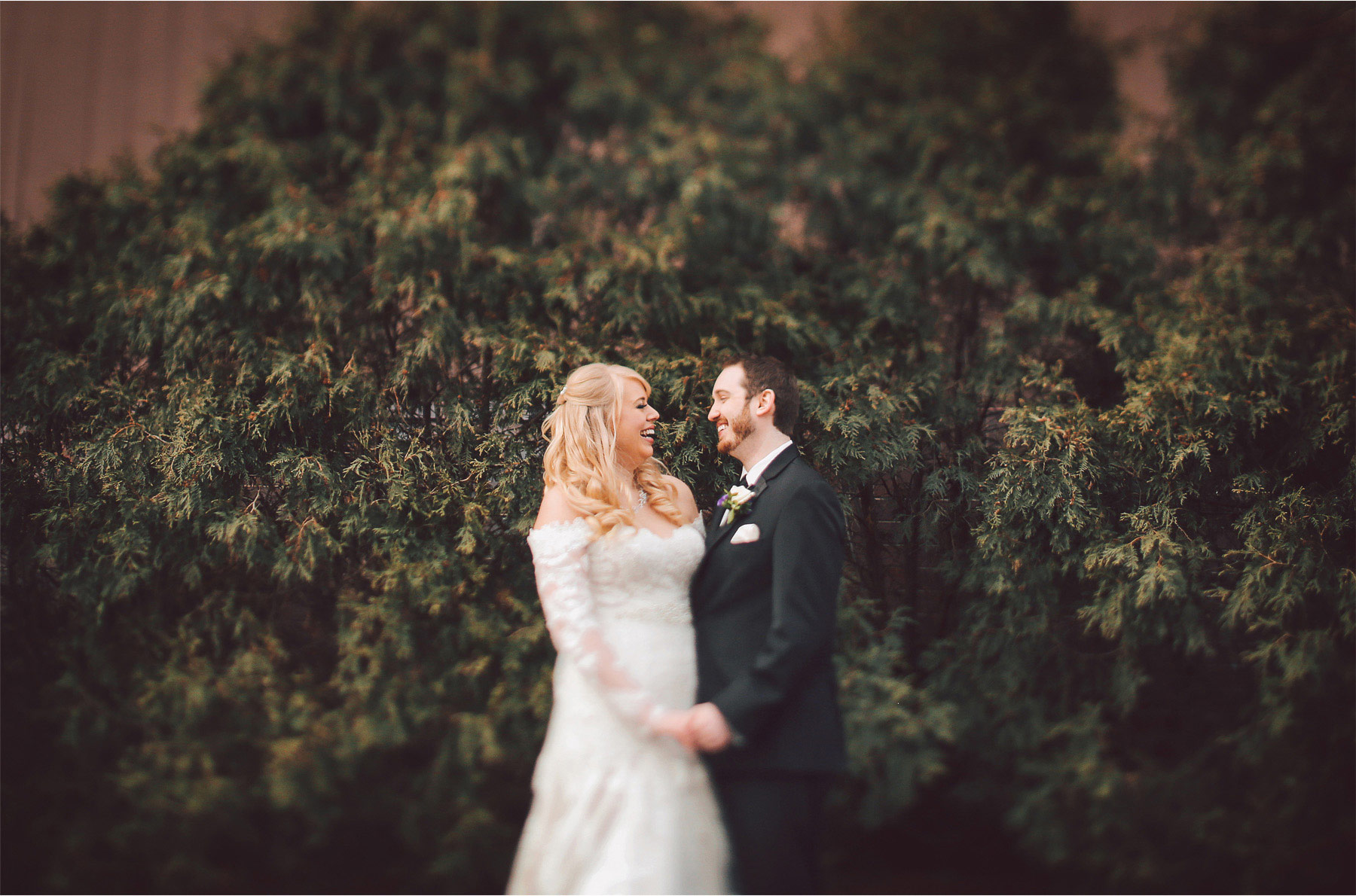 07-Minneapolis-Minnesota-Wedding-Photographer-by-Andrew-Vick-Photography-Winter-Millennium-Hotel-First-Meeting-Look-Bride-Groom-Laughter-Vintage-Jennifer-and-Phillip.jpg