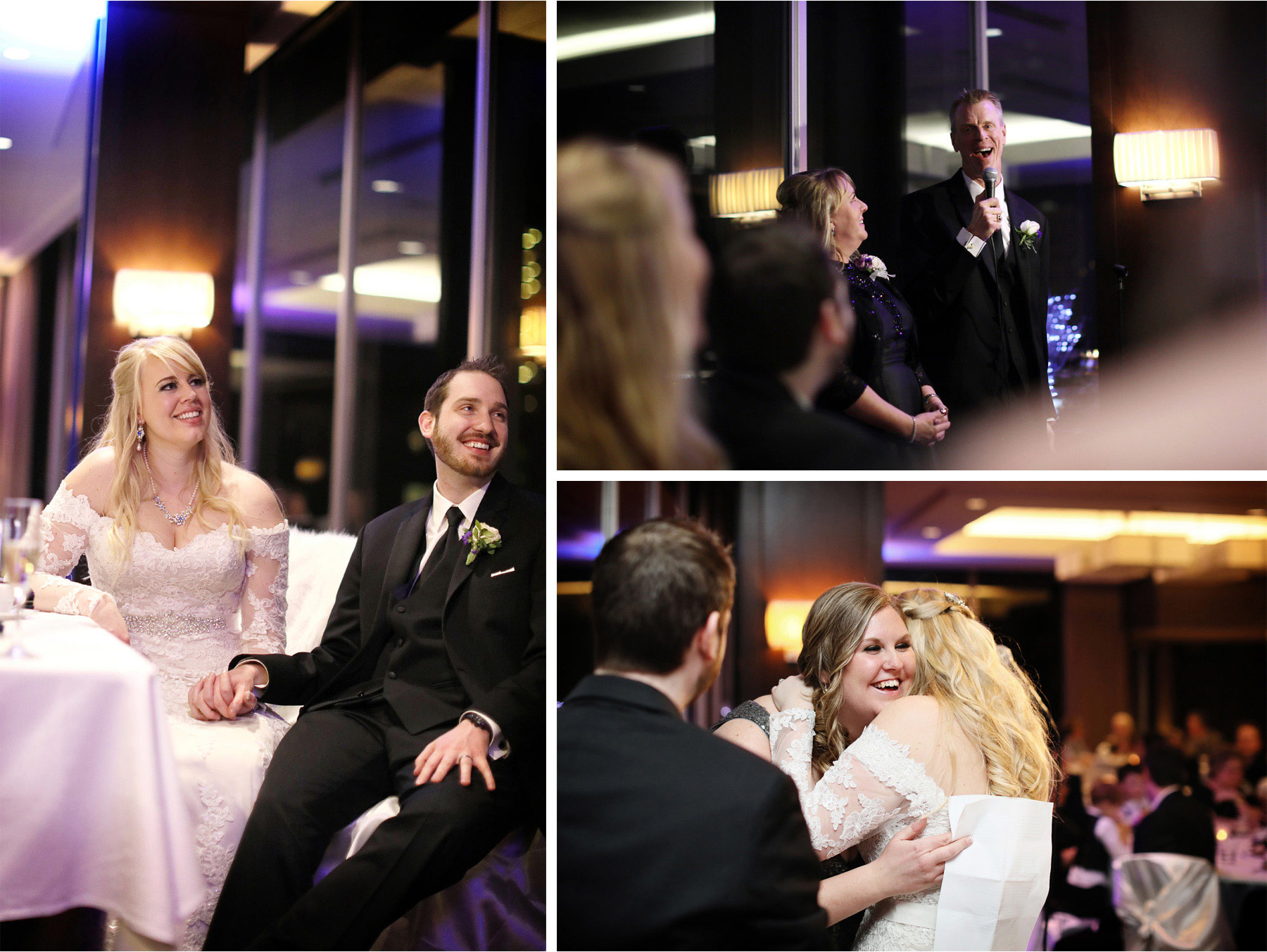 20-Minneapolis-Minnesota-Wedding-Photographer-by-Andrew-Vick-Photography-Winter-Millennium-Hotel-Reception-Bride-Groom-Speeches-Parents-Father-Mother-Bridesmaids-Jennifer-and-Phillip.jpg