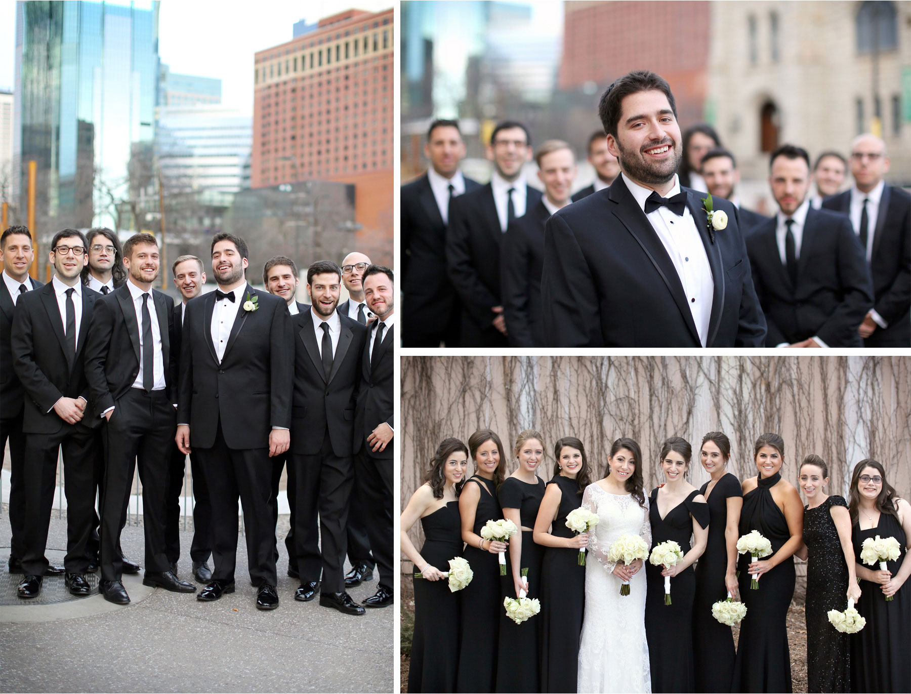 09-Minneapolis-Minnesota-Wedding-Photographer-by-Andrew-Vick-Photography-Winter-Millennium-Hotel-Bride-Groom-Bridesmaids-Groomsmen-Downtown-Flowers-Amy-and-Jordan.jpg