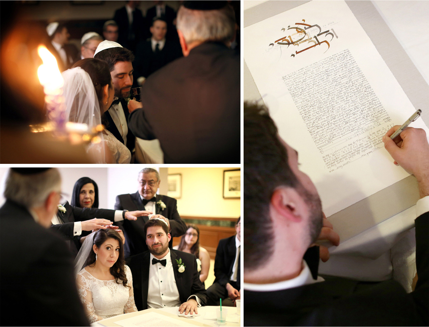 10-Minneapolis-Minnesota-Wedding-Photographer-by-Andrew-Vick-Photography-Winter-Hyatt-Regency-Hotel-Ceremony-Bride-Groom-Family-Prayer-Ketubah-Amy-and-Jordan.jpg